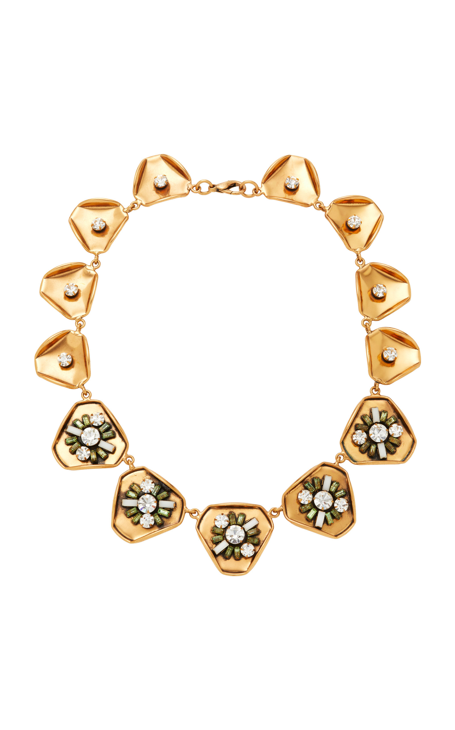 Gold-Plated Swarovski Crystal Necklace Nicole Romano YnhaaVFln