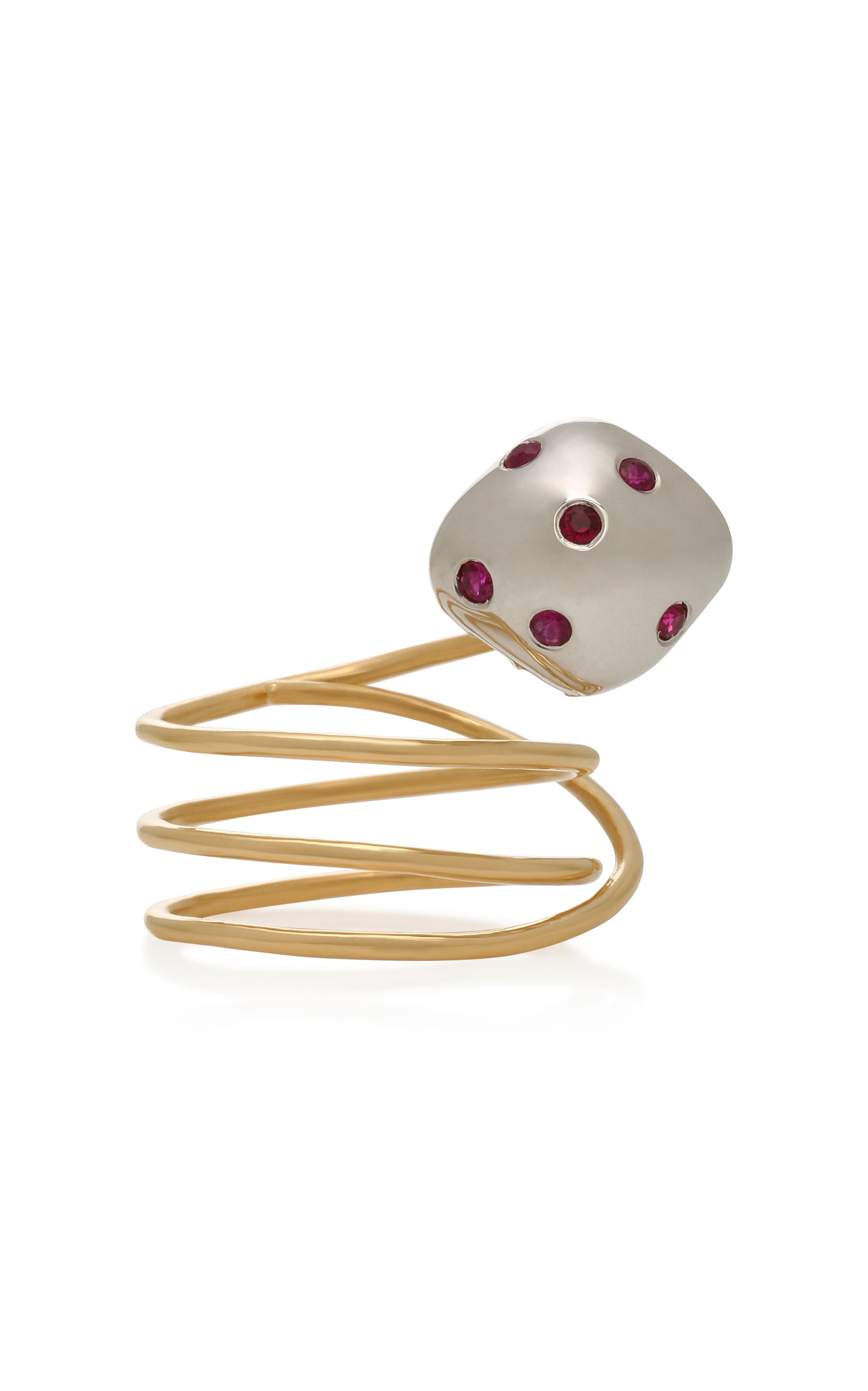 DONNA HOURANI MUSHROOM 18K GOLD AND RUBY RING