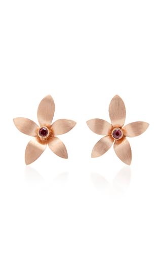 DONNA HOURANI   Donna Hourani 18K Gold Tourmaline Orchid Earrings   Goxip