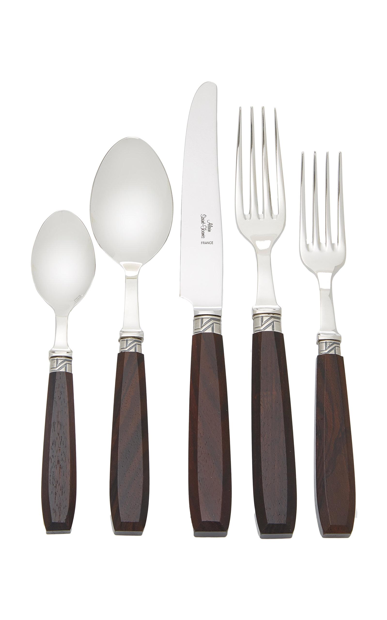 Sancy Rosewood Stainless Steel Silverware Set by Alain Saint-Joanis ...