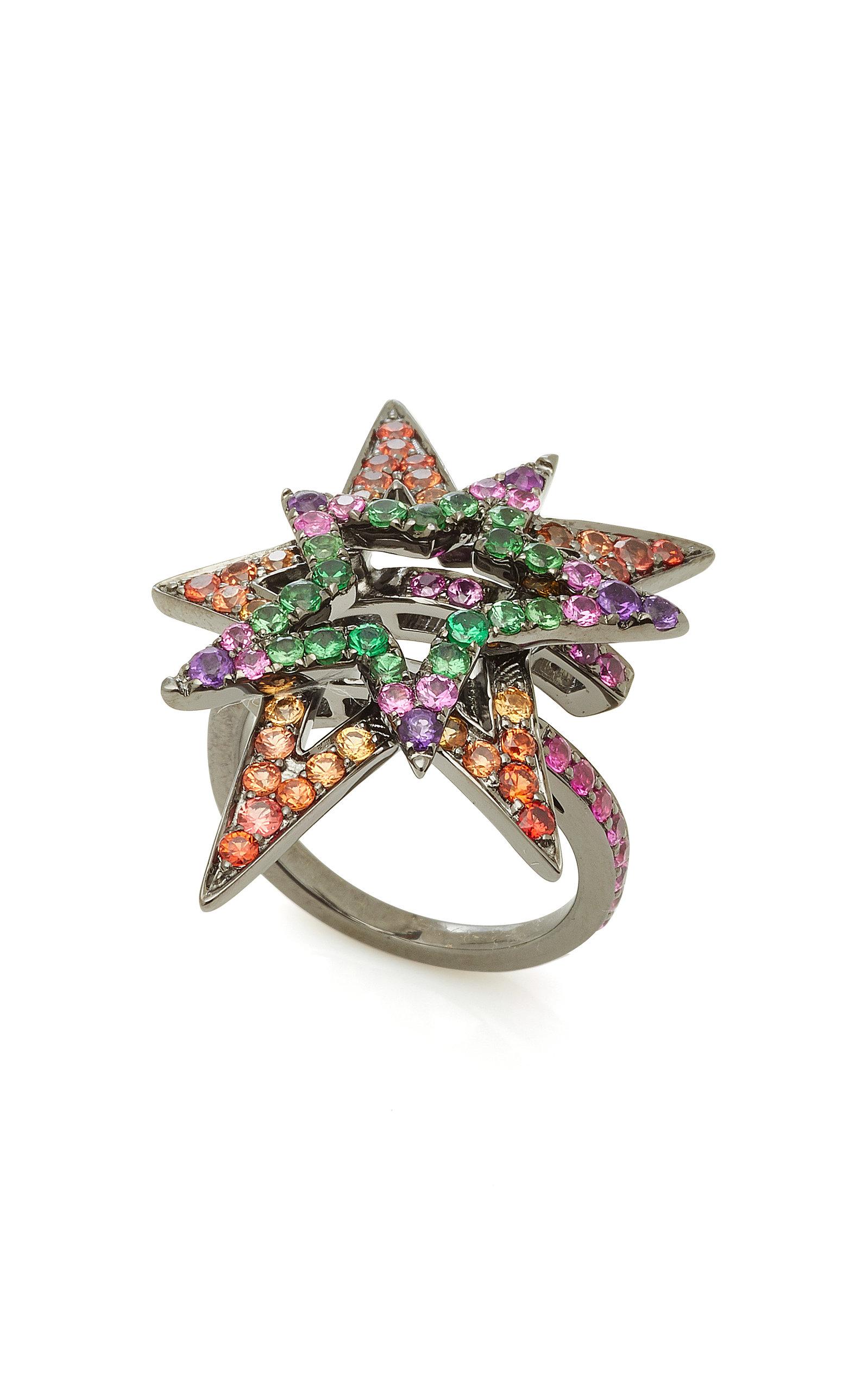 Lynn Ban Shooting Star Multi-Stone Ring MGnUeRr1