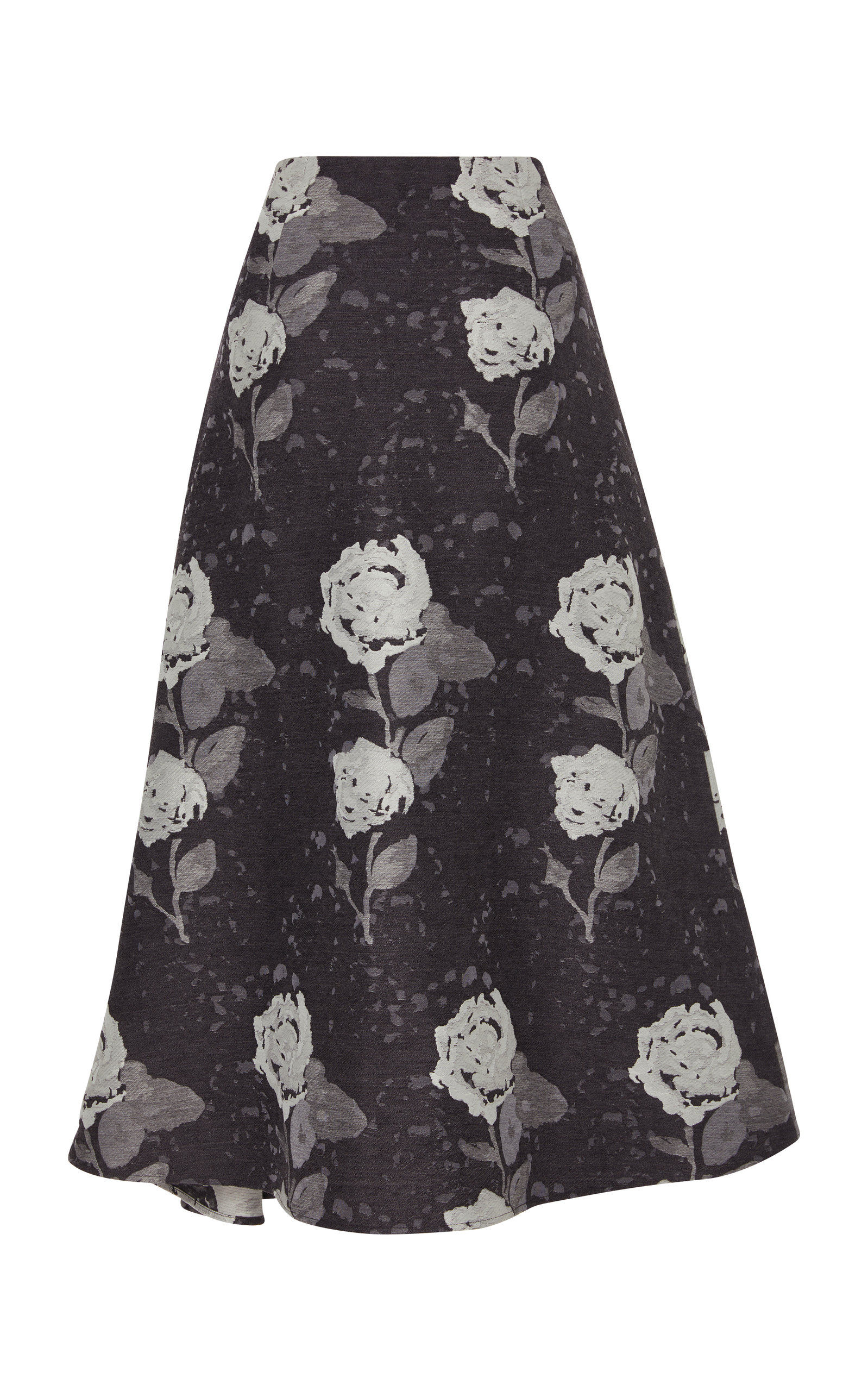 Floral Wool-Blend Midi Skirt Co Outlet Best Wholesale eezmoQNo