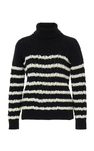 888d7f9e74a4 Loewe Striped Cable Knit Sweater
