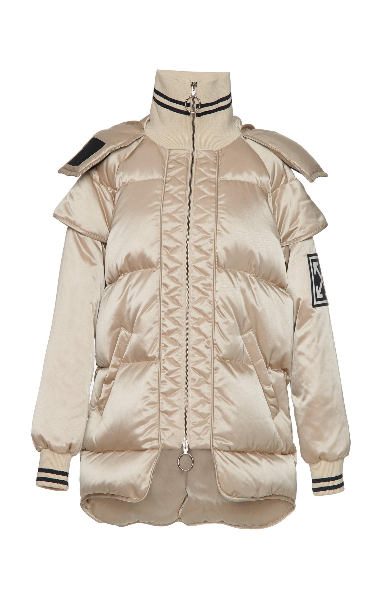Neutral Coat Technical Off High White In Puffer Neck xOgq0g4B