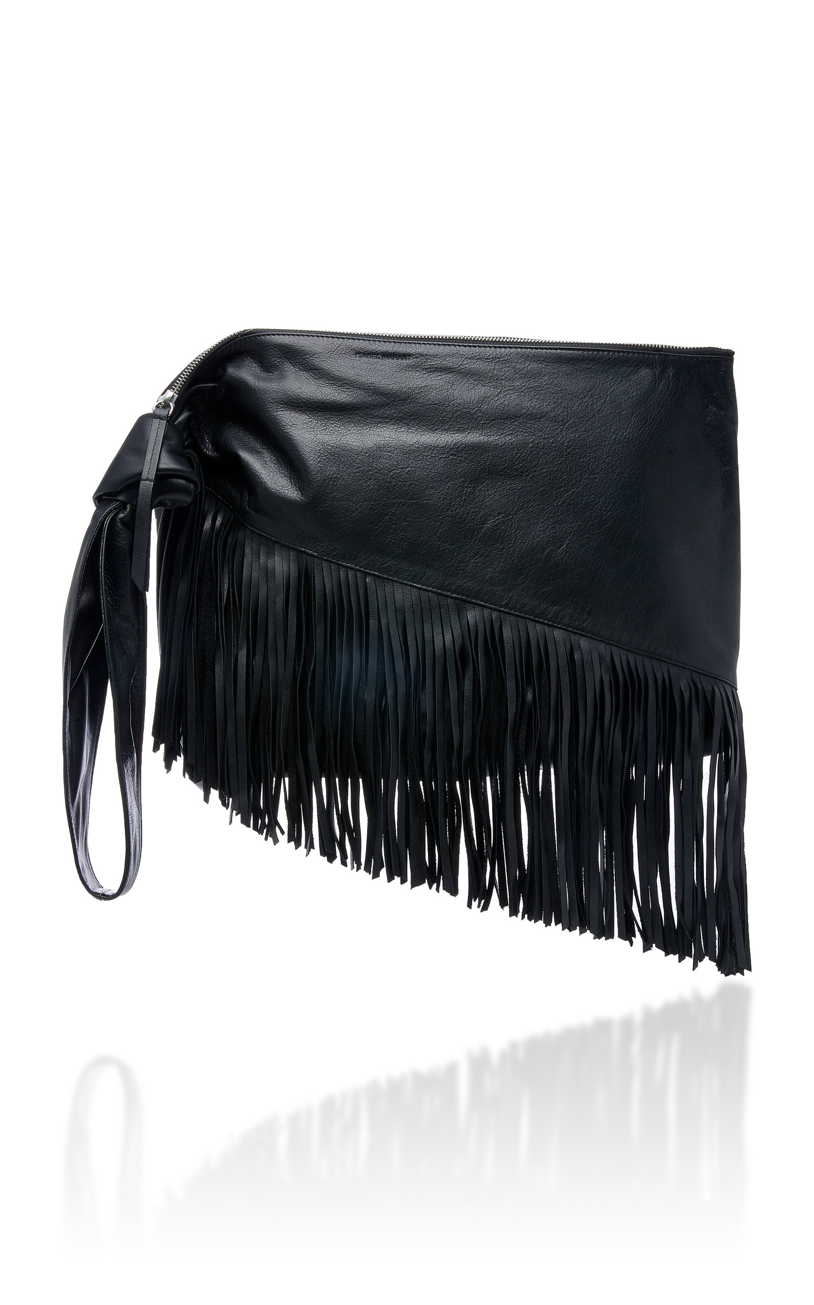 5929ccf1874 Isabel Marant Farwo Fringe-Trimmed Leather Pouch