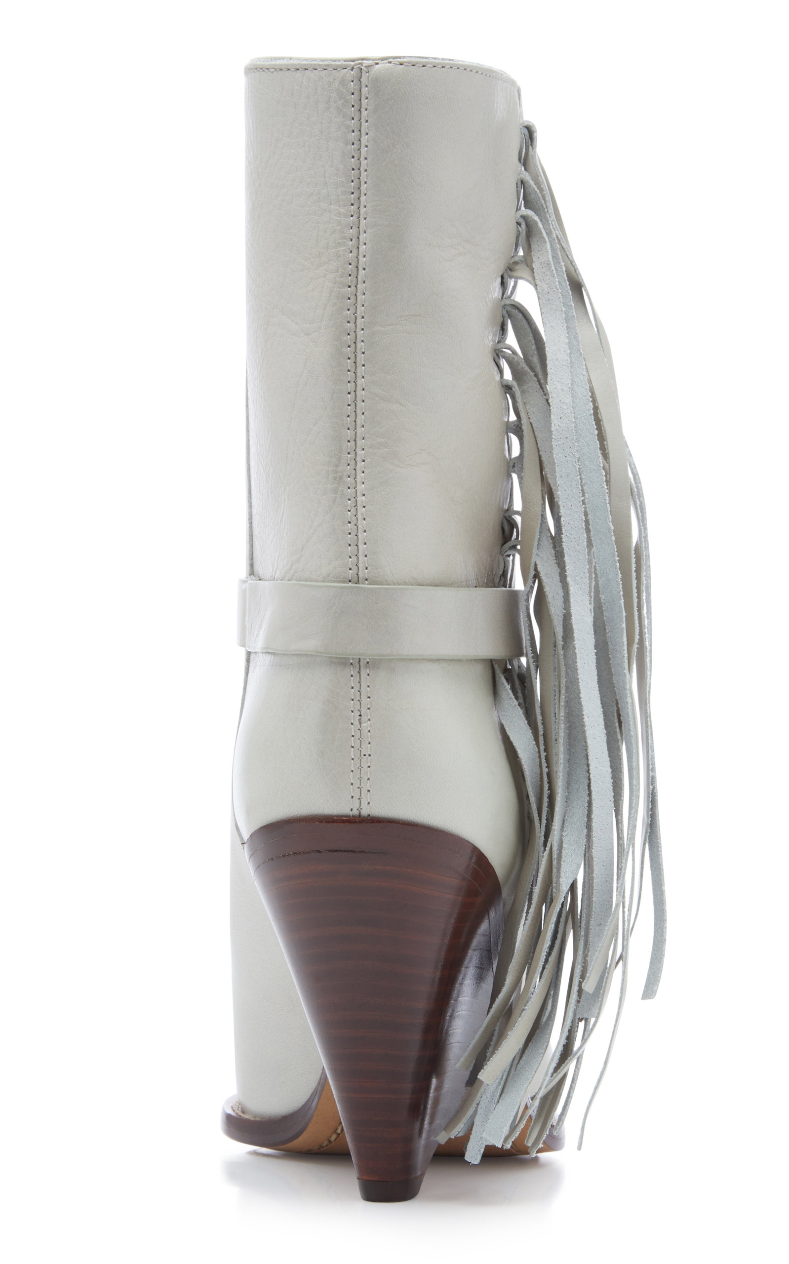 Ankle Loffen White Marant Modesens Boots In Leather Isabel Tasseled xBqSwfFAv