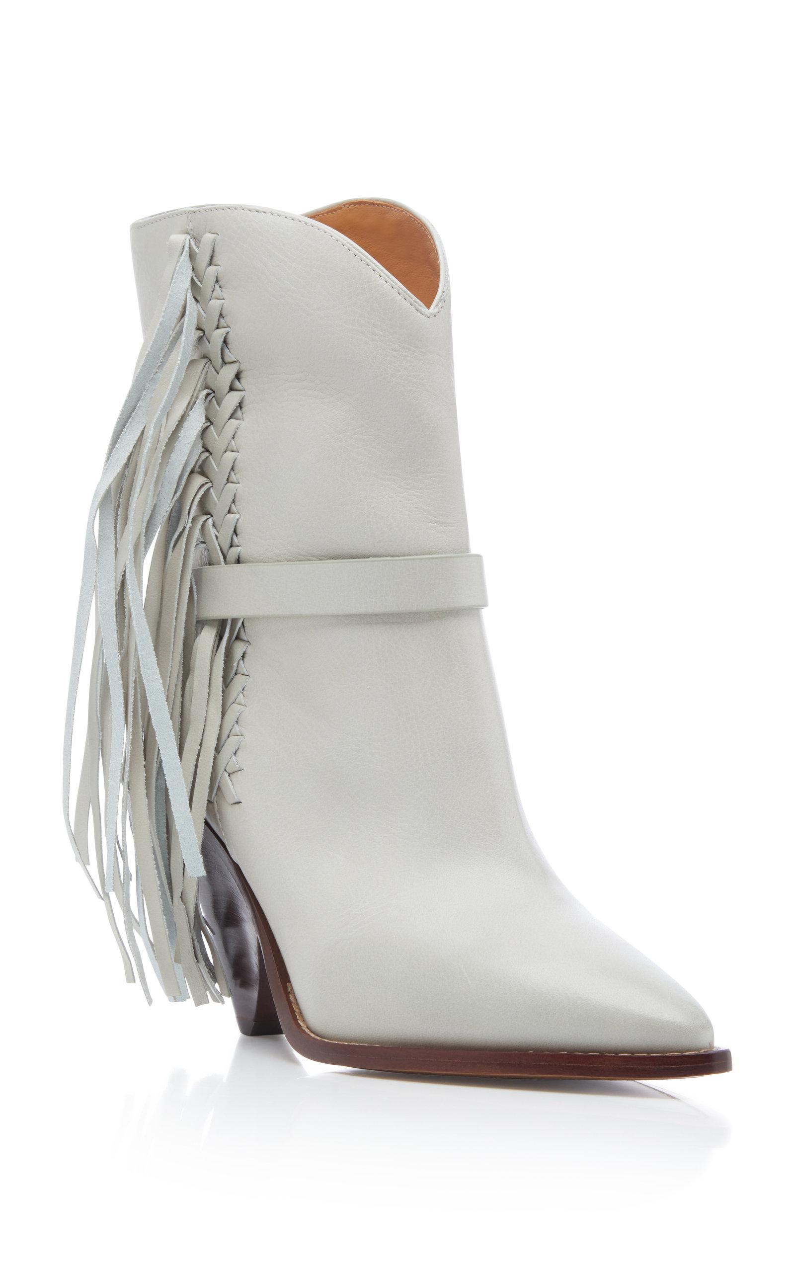 62f78050dcf Isabel MarantLoffen Tasseled Leather Ankle Boots. CLOSE. Loading. Loading.  Loading. Loading