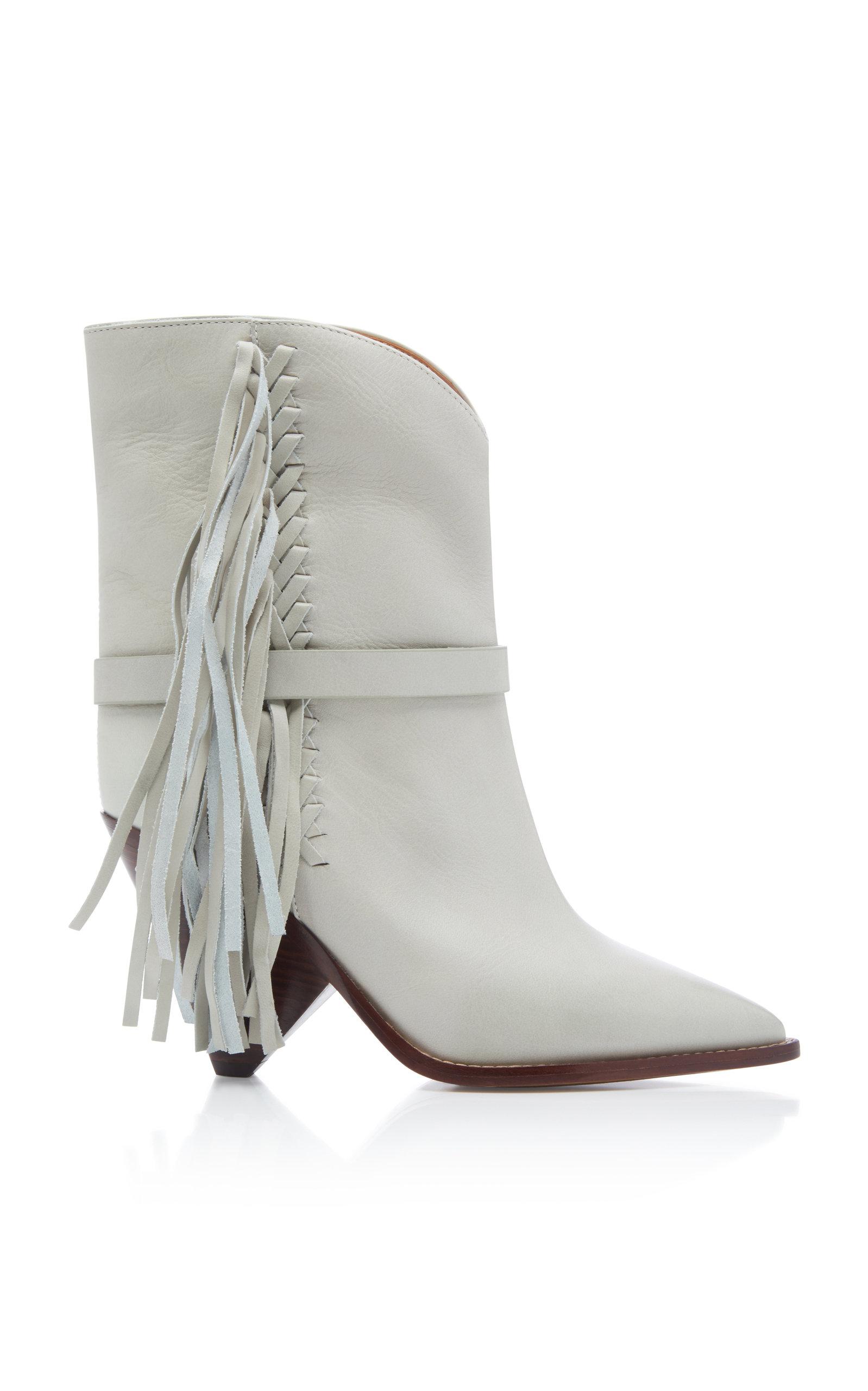 cab25184833 Loffen Tasseled Leather Ankle Boots by Isabel Marant | Moda Operandi