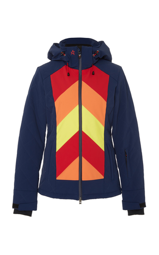 09e2b168fc4e Tignes Chevron-Print Shell Hooded Ski Jacket by Perfect Moment ...