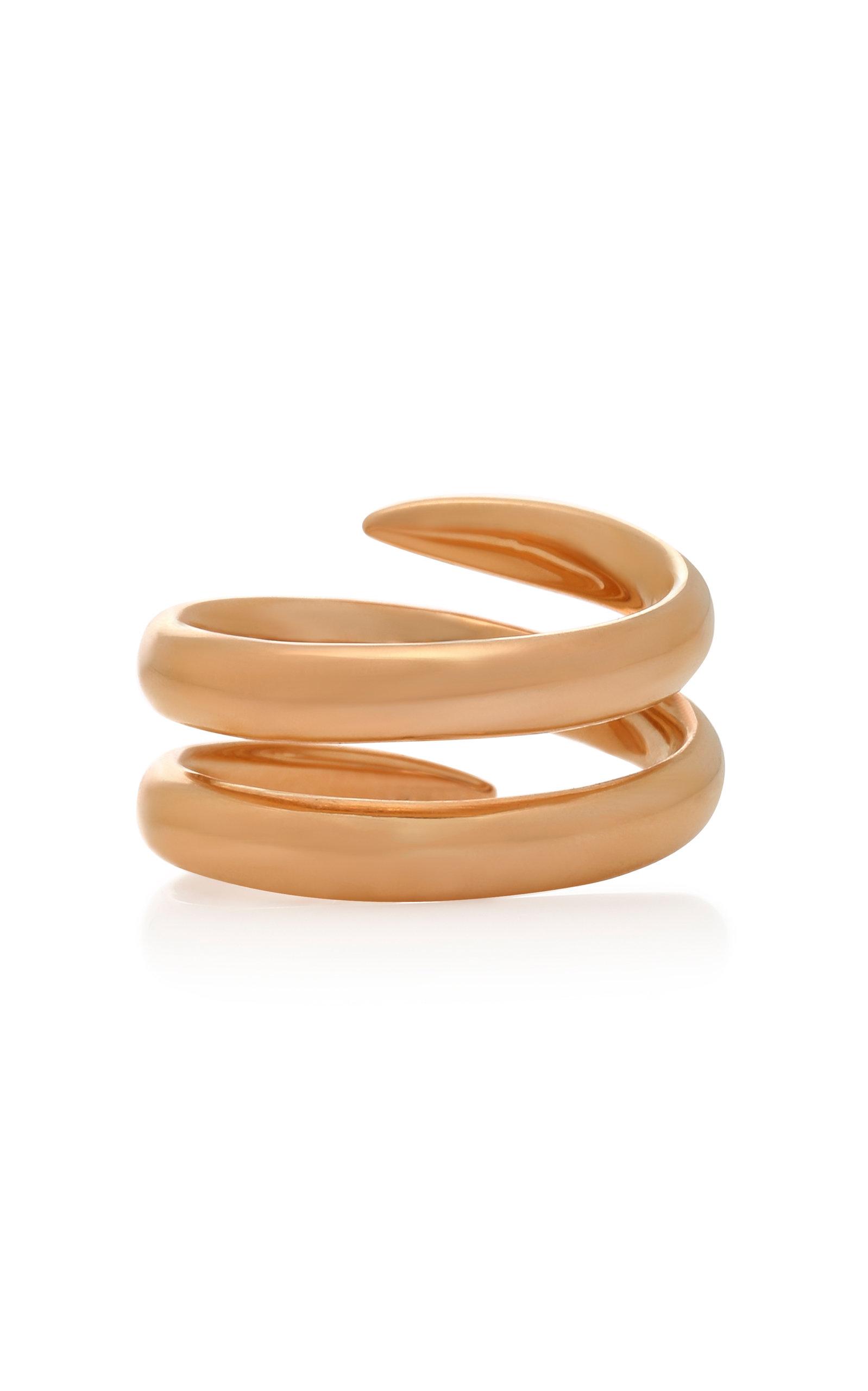 Snake 18K Rose Gold Ring Eva Fehren CQl70