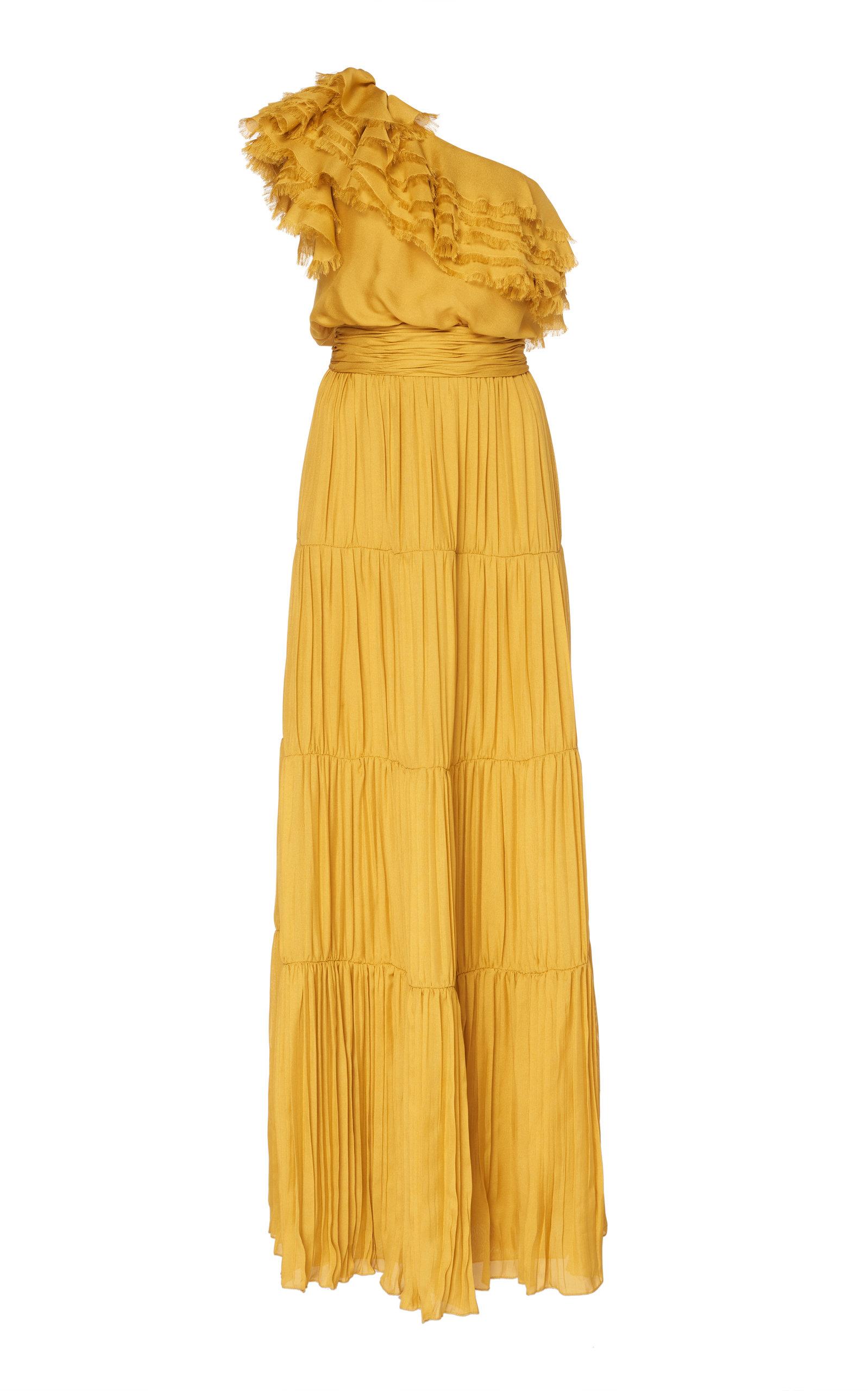 Daydream One-Shoulder Silk Gown Johanna Ortiz h1nPvSwG