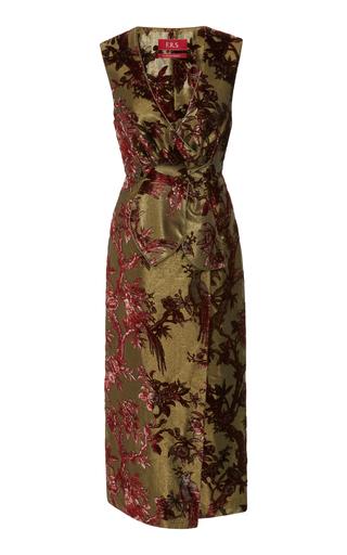 FOR RESTLESS SLEEPERS | For Restless Sleepers Meti Wrap Lurex Devoré Midi Dress | Goxip