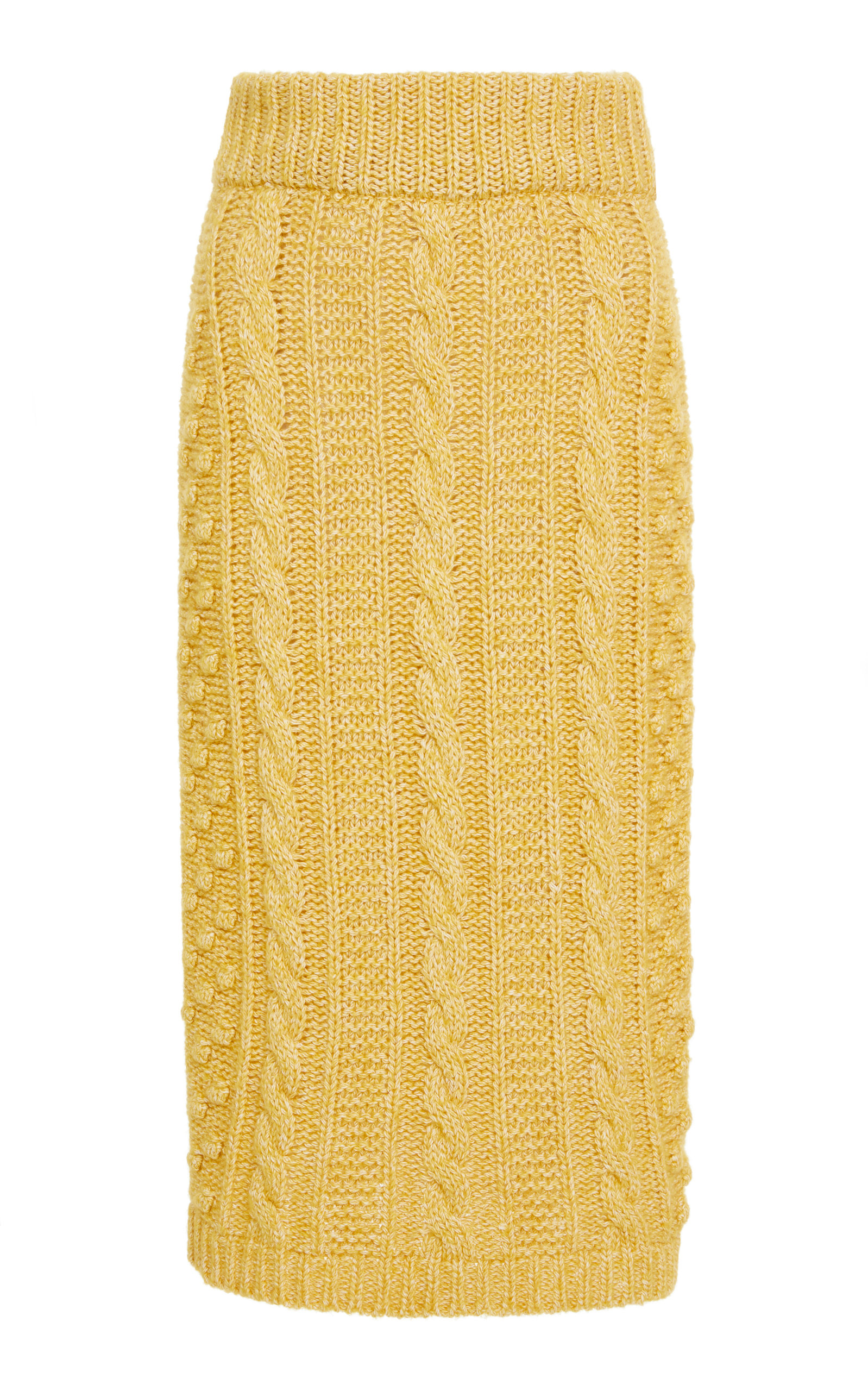 6466f0715117 ALEXA CHUNG Fashion ALEXA CHUNG CABLE-KNIT PENCIL SKIRT