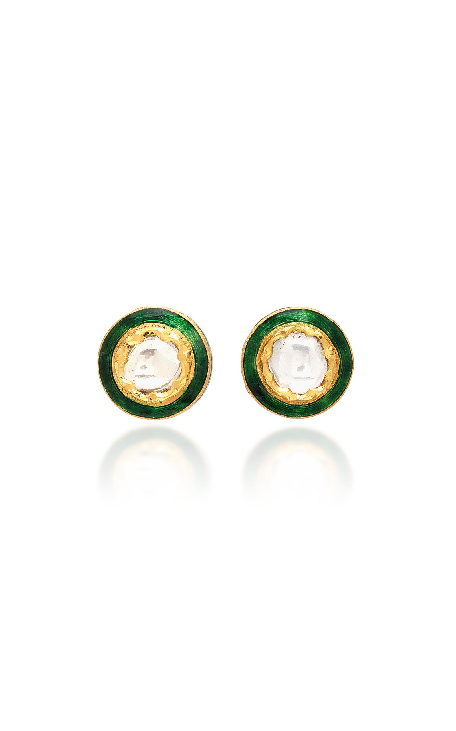 e65fe2cdf 22K Gold Diamond Stud Earrings by Sanjay Kasliwal | Moda Operandi