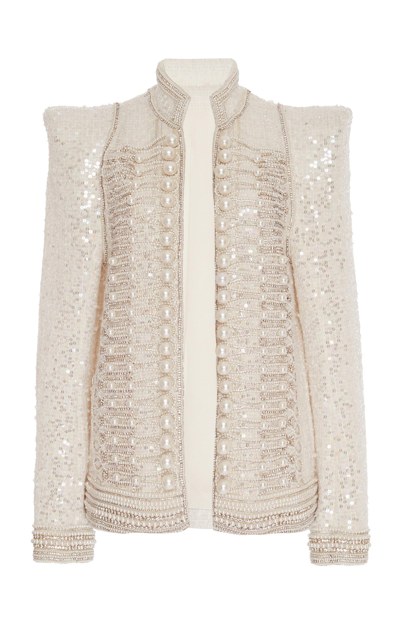 21495e22 Pearl Embroidered Sequin Jacket by Balmain | Moda Operandi