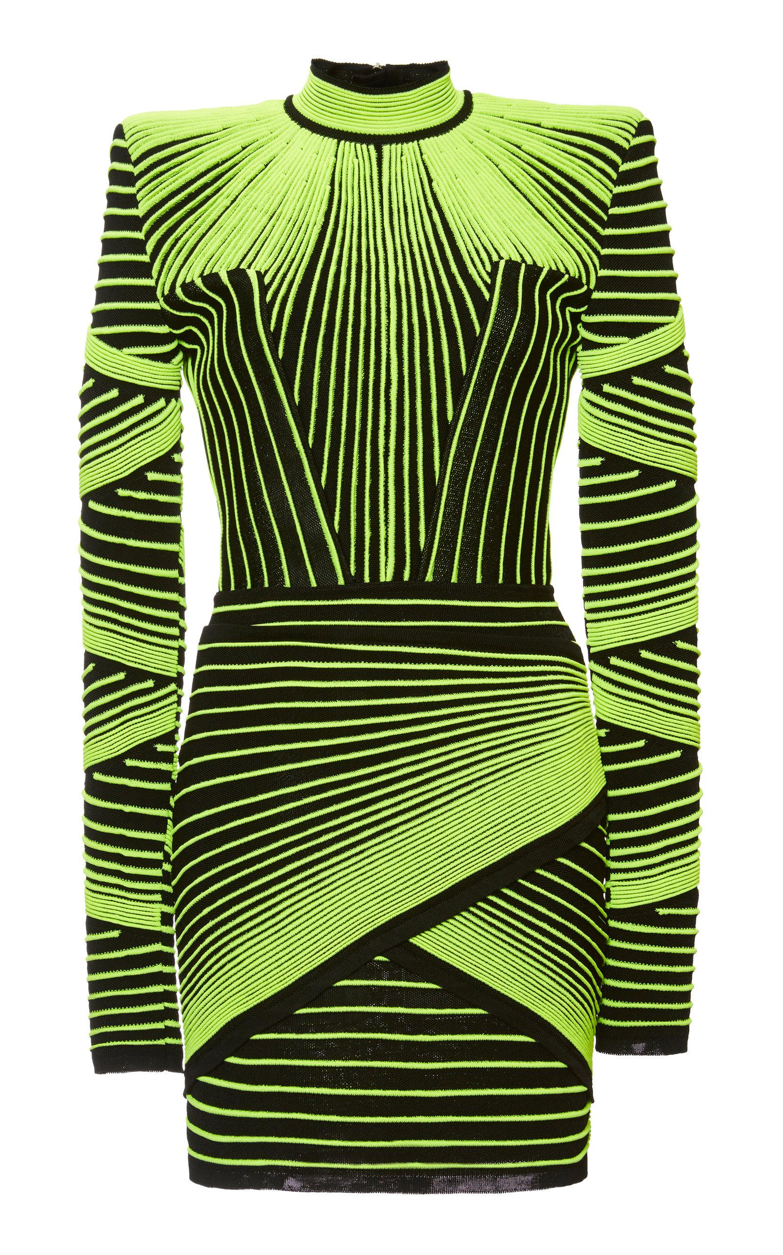8e99f24c5f1c Optical Illusion Mini Dress by Balmain | Moda Operandi