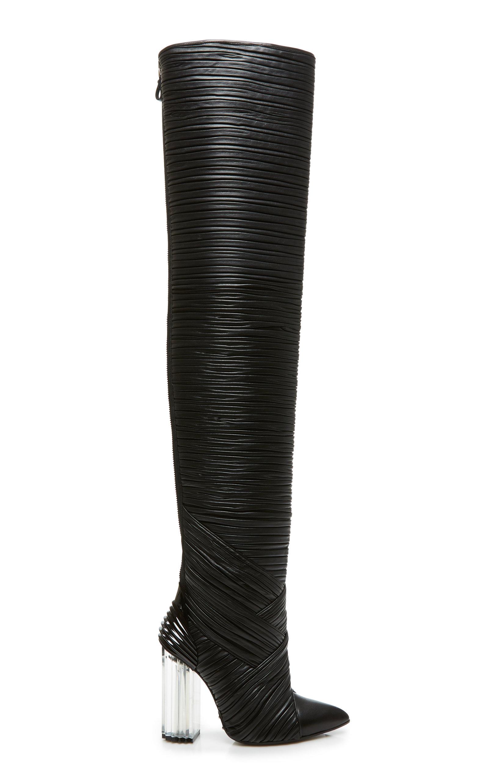 32b2de1cb7b Shop Balmain Ingrid Over The Knee Boot In Black