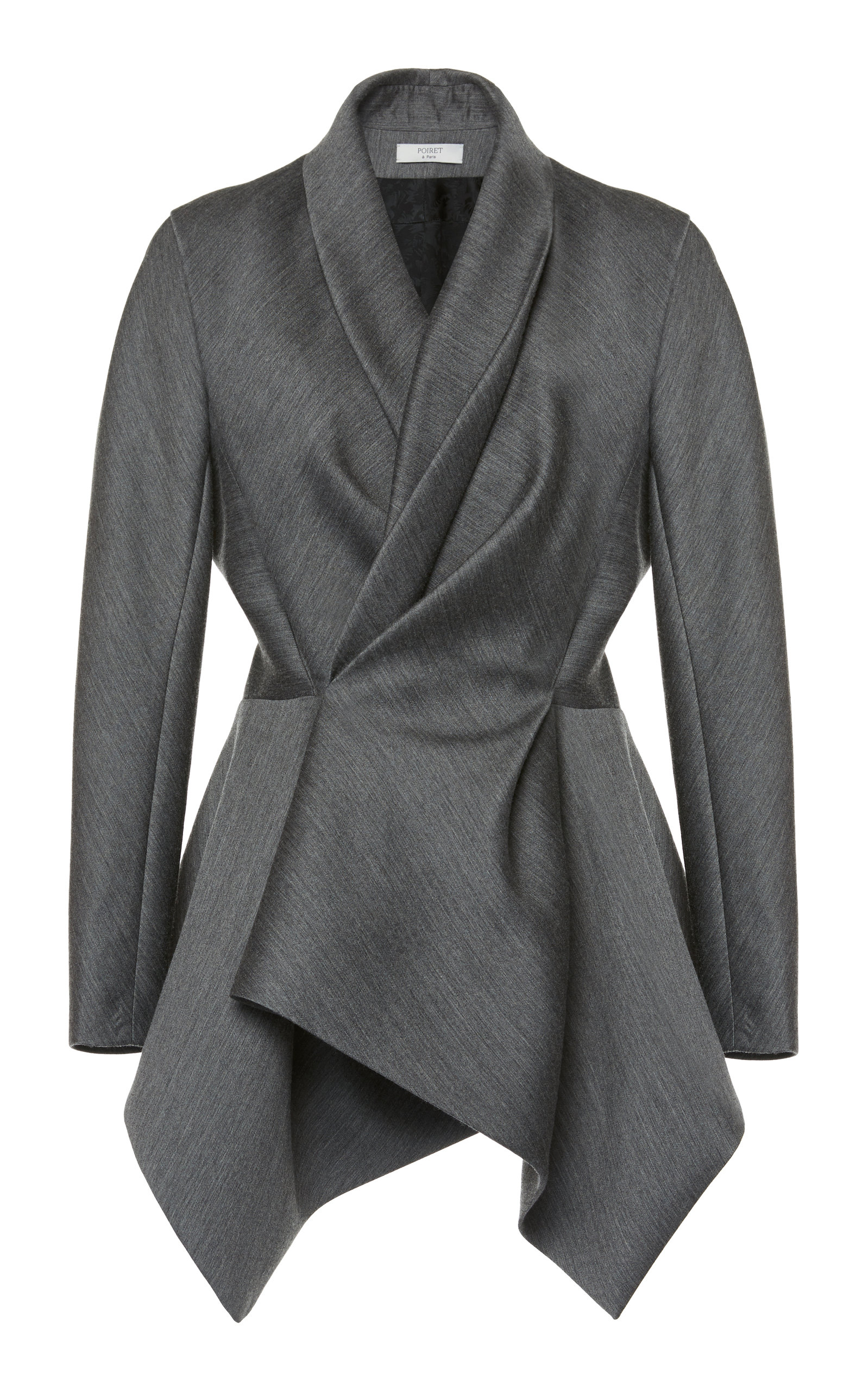 from wool jacket soulclothing products elmatomicdrapedcoat coat blend elm lining blk blush atomic with waterfall drapes made draped co is a nz