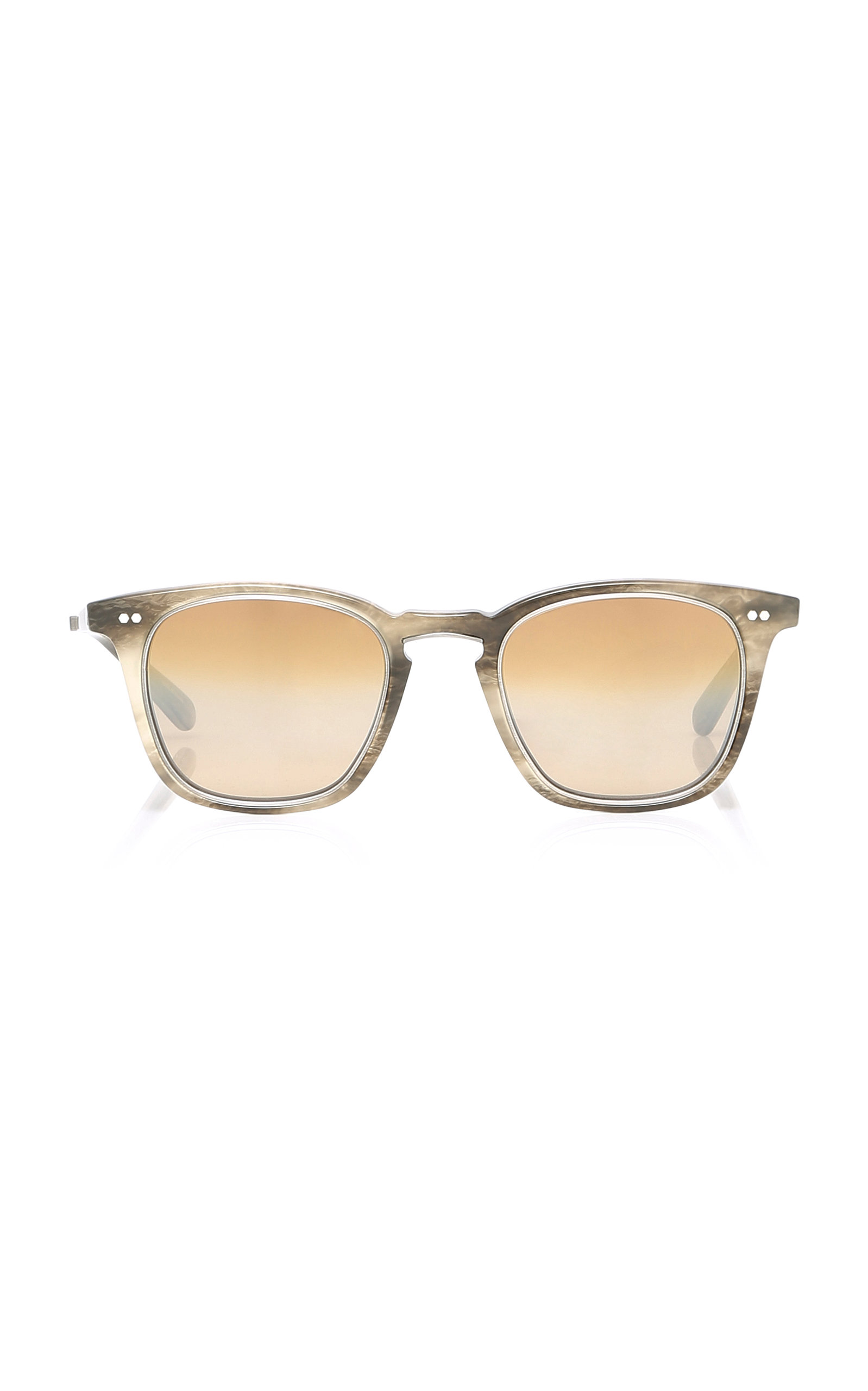 MR. LEIGHT Getty Square-Frame Sunglasses in Grey