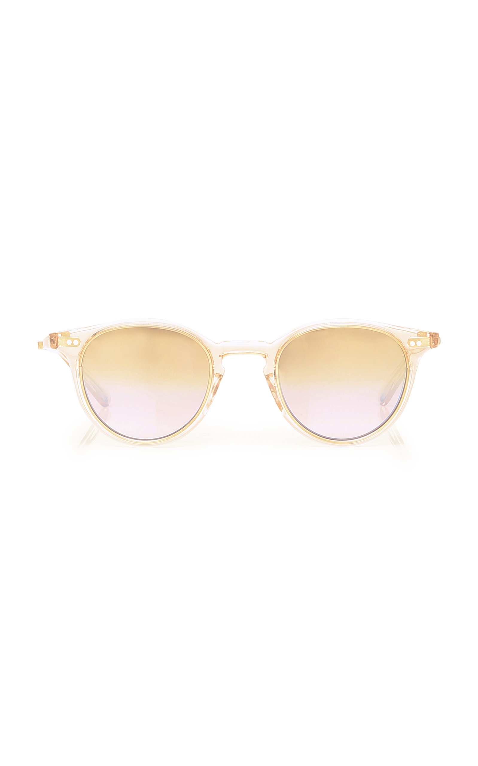 MR. LEIGHT Marmont Round Rose Gold And Acetate Sunglasses in Pink