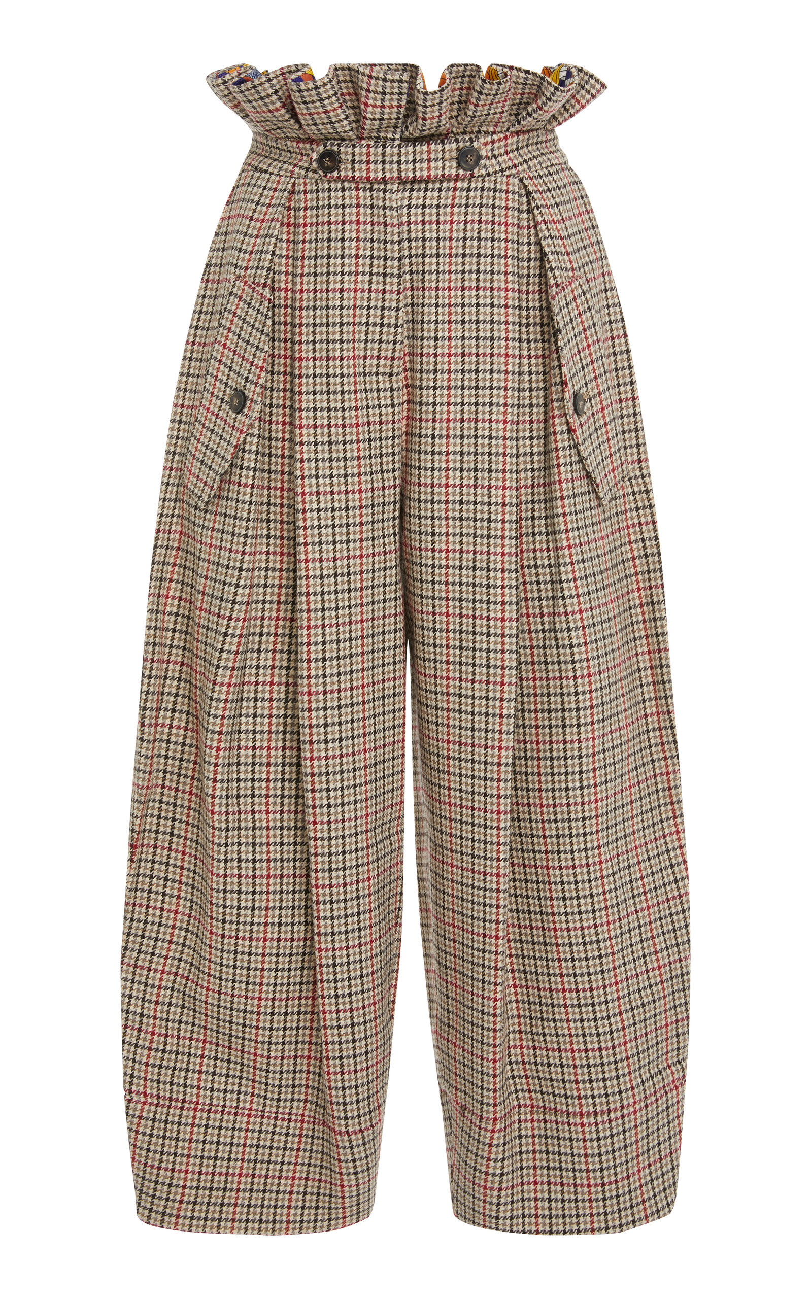 CHECKED PAPERBAG PANT