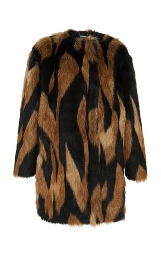 GIVENCHY | Givenchy Animal-Print Faux Fur Coat | Goxip