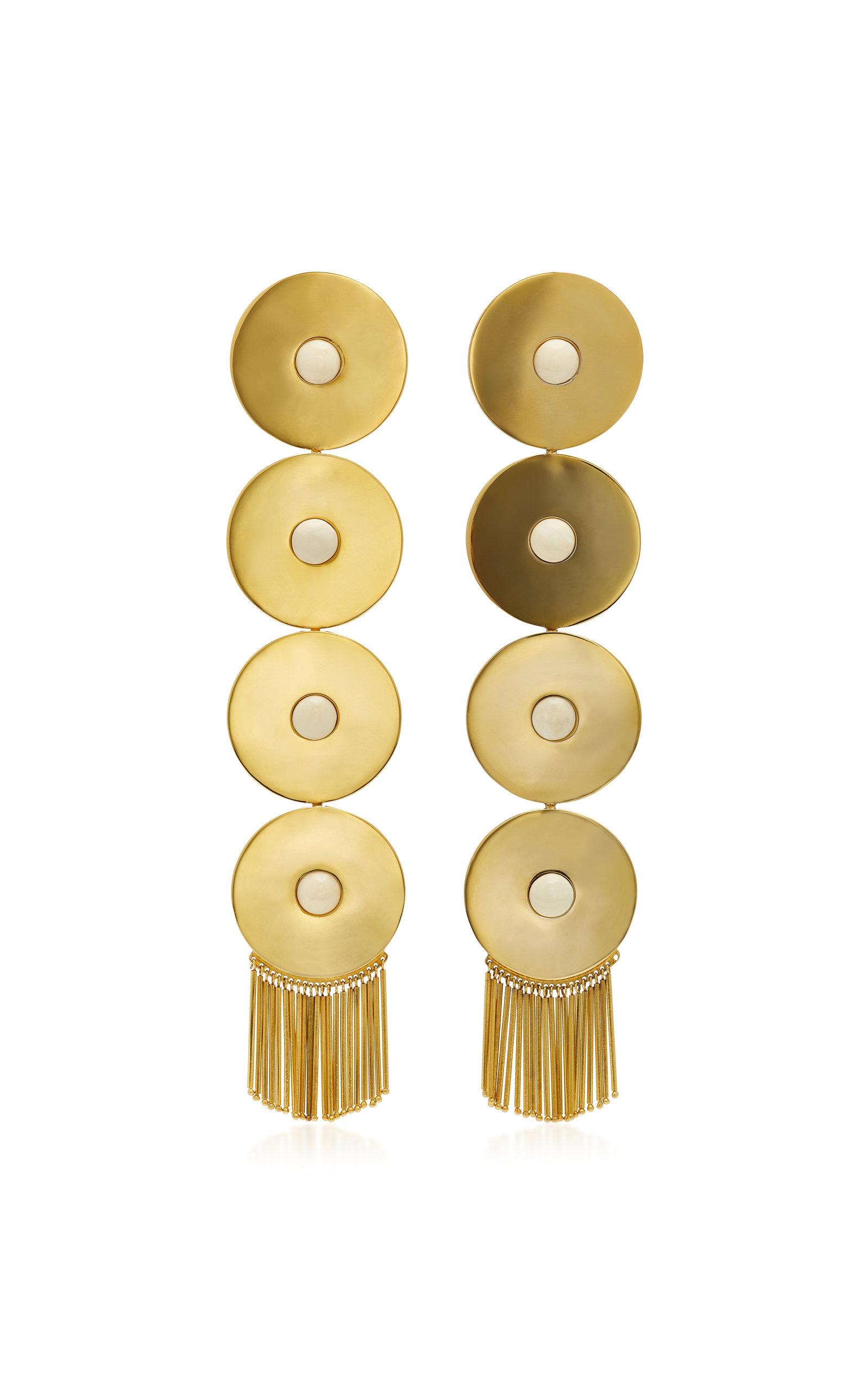 MONICA SORDO ICA GOLD-PLATED DROP EARRINGS