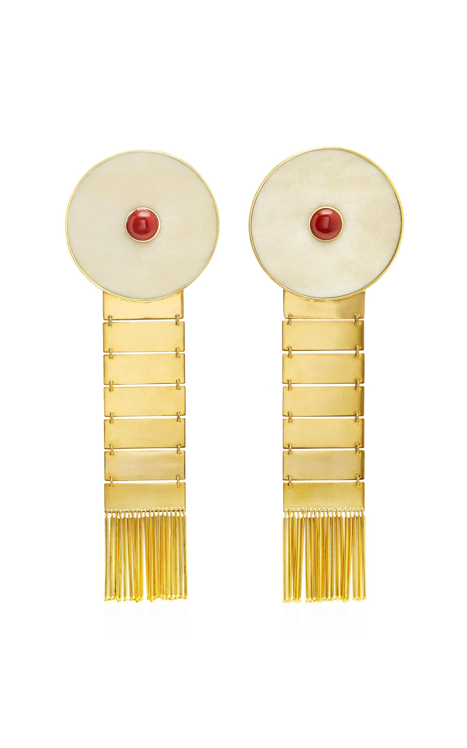 MONICA SORDO KON 24K GOLD-PLATED EARFLARE EARRINGS