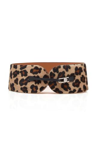 MAISON VAINCOURT | Maison Vaincourt Exclusive Leopard Print Calf-Hair Belt | Goxip