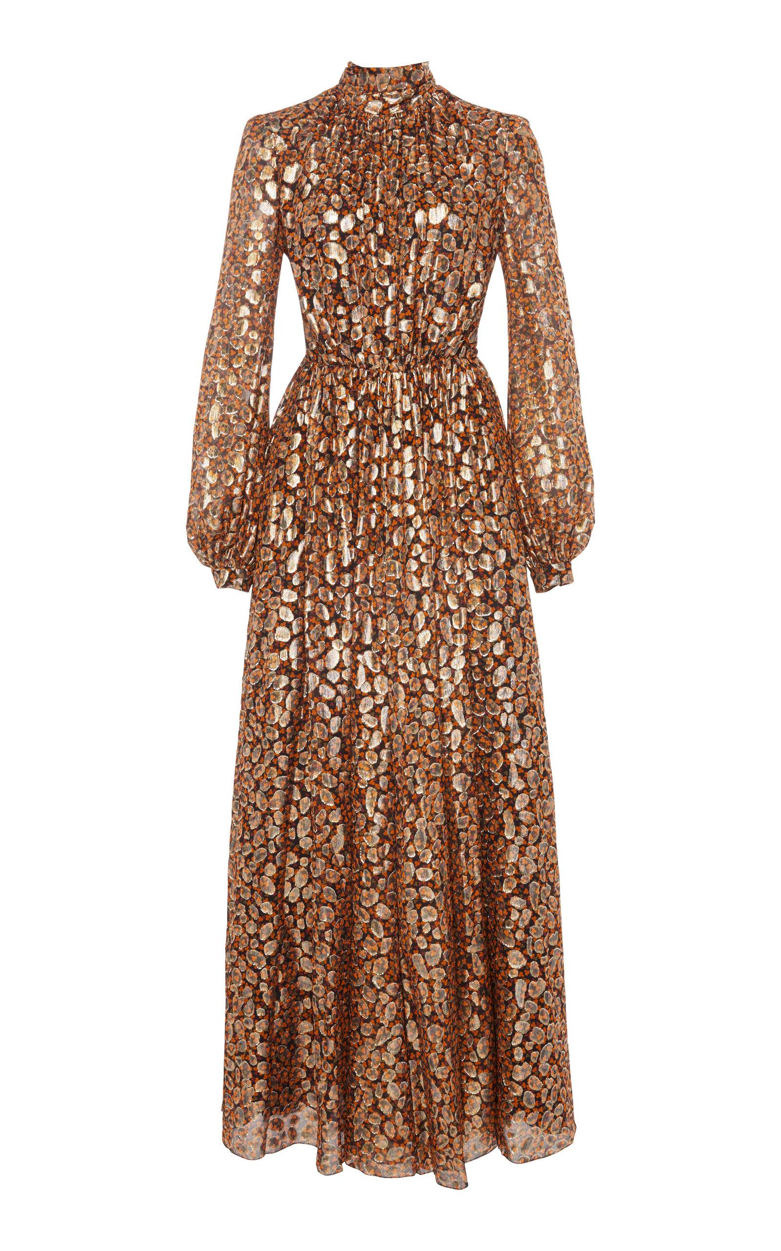 1093833d Giambattista ValliFloral Metallic Silk-Blend Maxi Dress. CLOSE. Loading