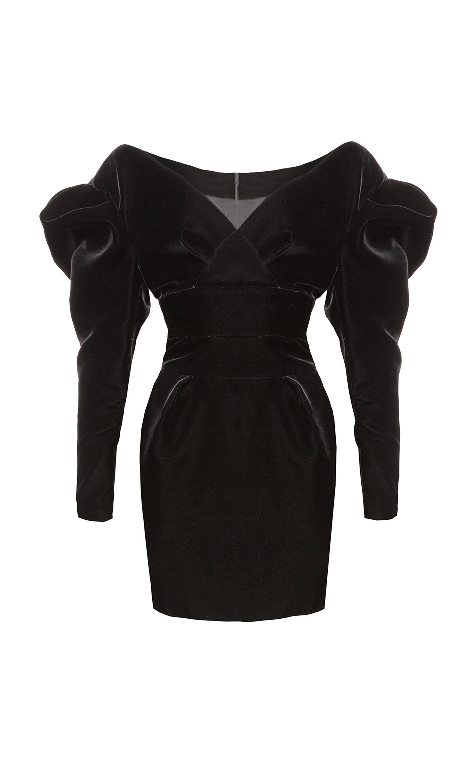 25878695 Off-The-Shoulder Velvet Mini Dress by Alexandre Vauthier | Moda Operandi