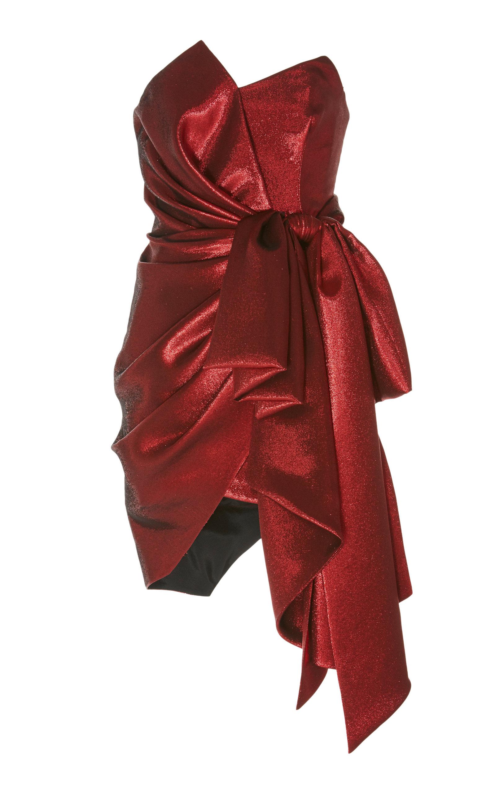 ALEXANDRE VAUTHIER Oversized Bow Mini Dress in Red