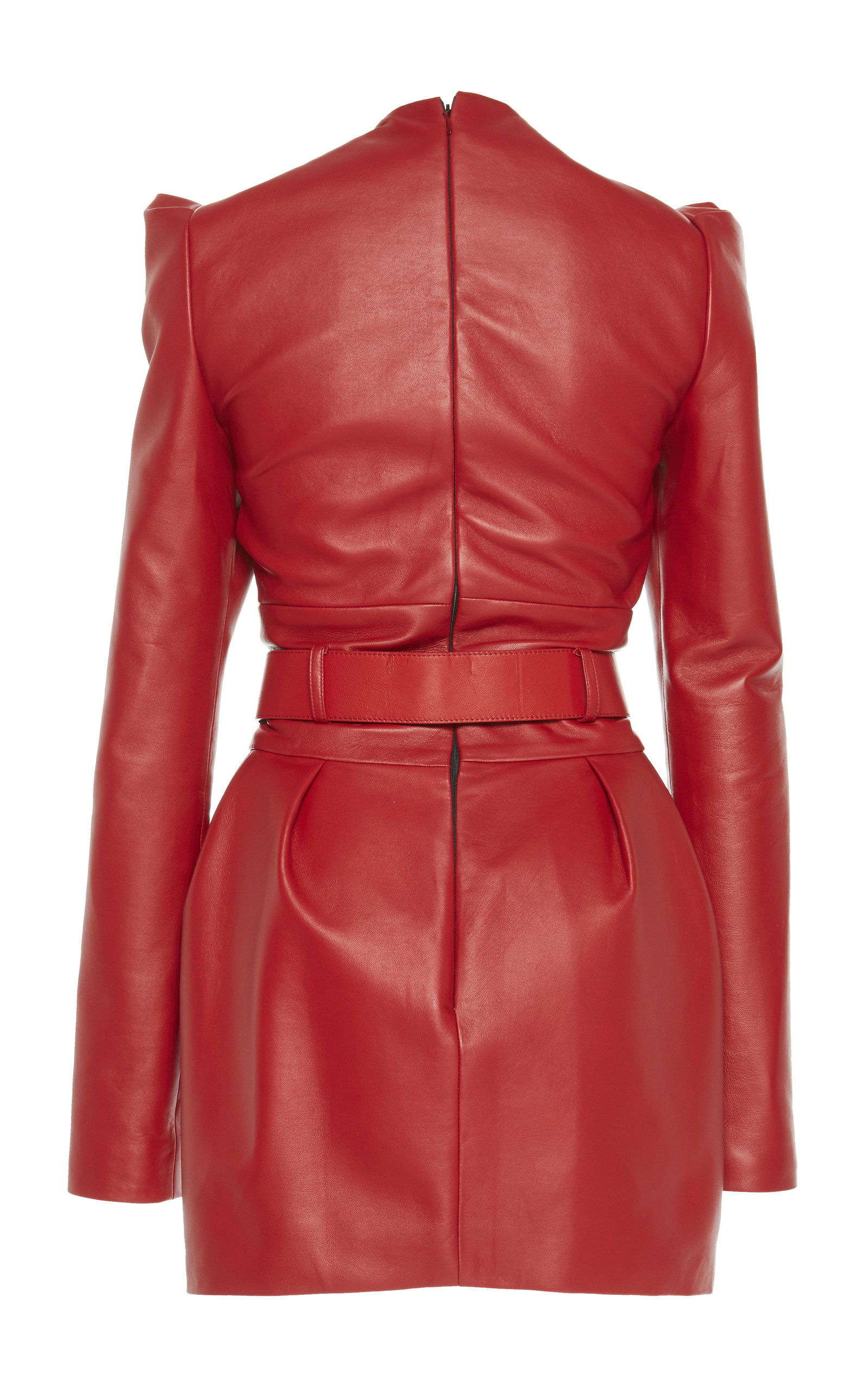 f9fa8ed77ef3 Belted Leather Mini Dress by Alexandre Vauthier   Moda Operandi