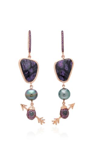 DANIELA VILLEGAS | Daniela Villegas 18K Rose Gold Multi-Stone Earrings | Goxip
