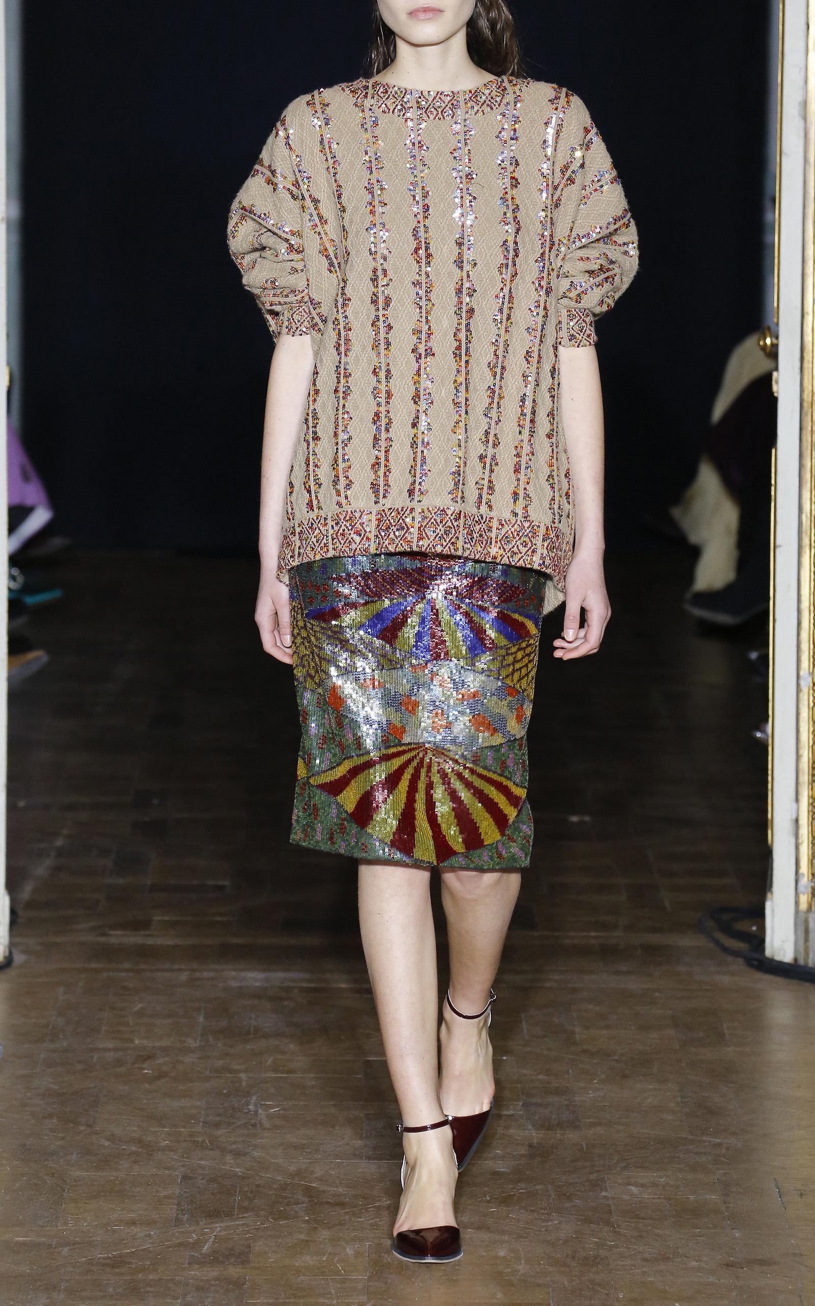 Hase Embellished Sweater By Rahul Mishra Moda Operandi Sandal Sehat