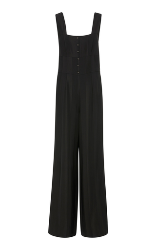 BECKEN | Becken Striped Satin Jumpsuit | Goxip