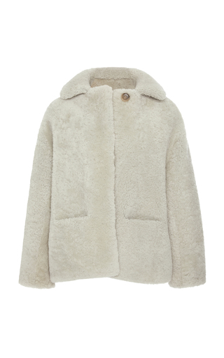 BECKEN | Becken Collared Shearling Jacket | Goxip