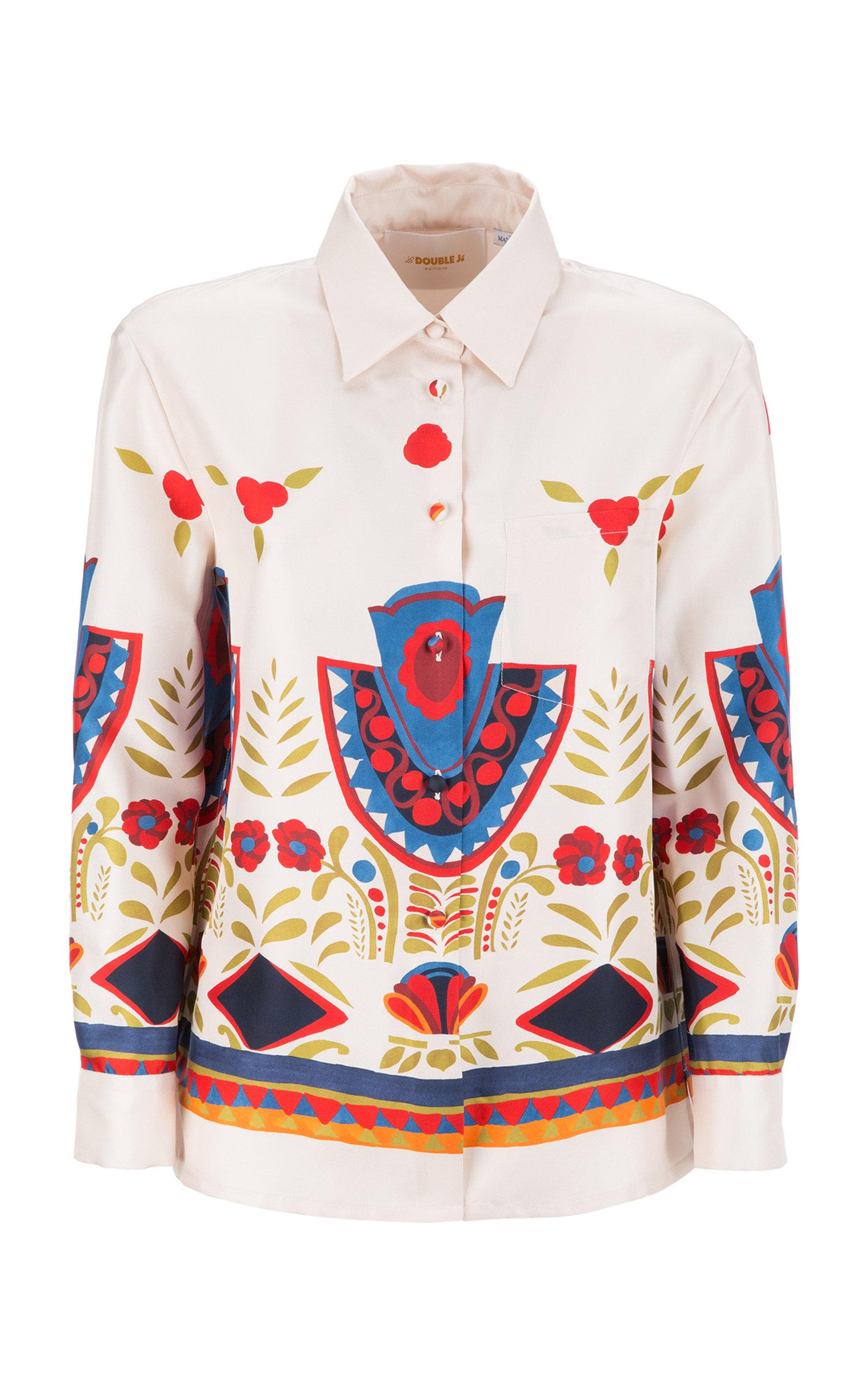 LA DOUBLEJ Printed New Boy Shirt  in Neutrals