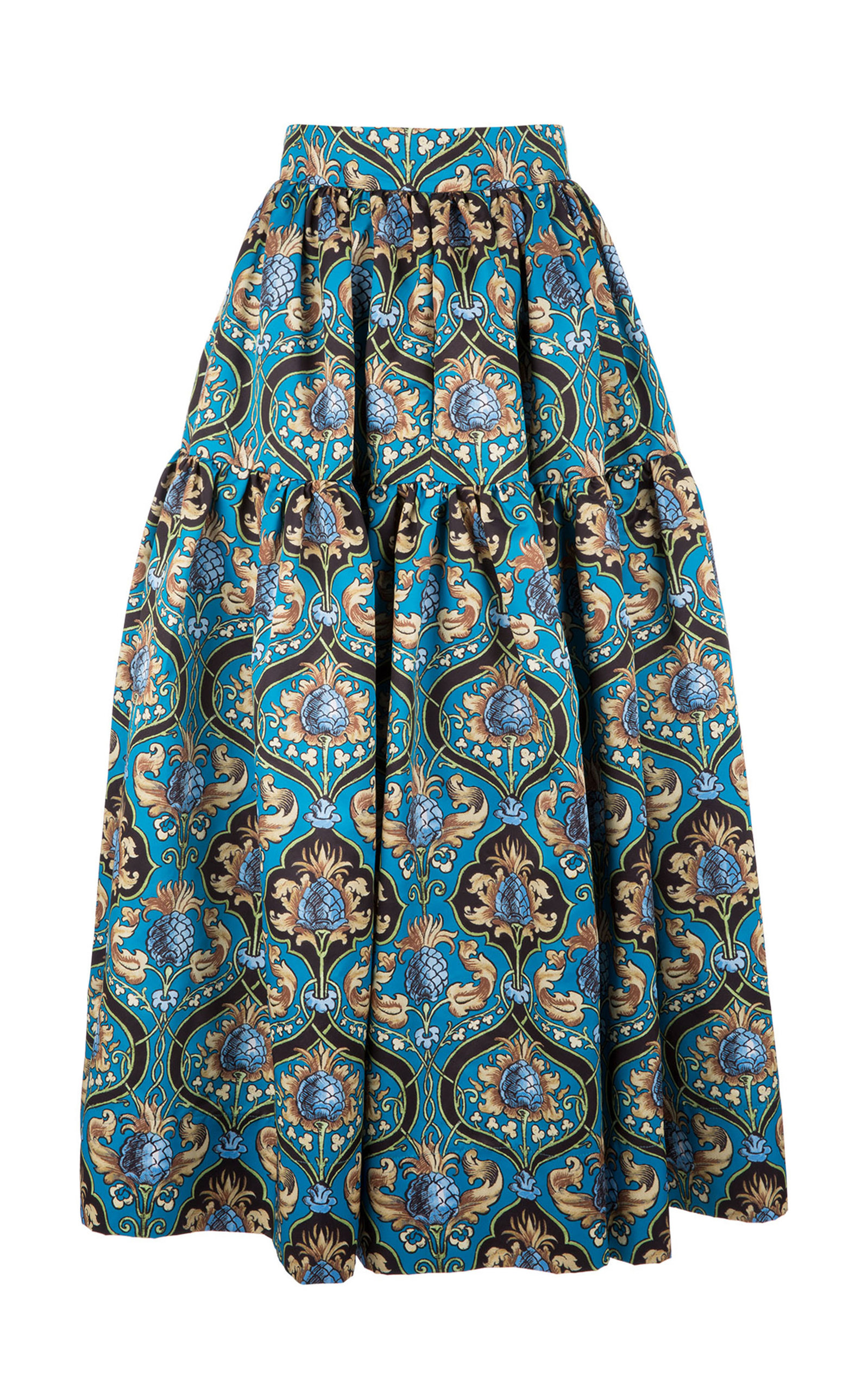 LA DOUBLEJ Oscar Midi Skirt in Blue