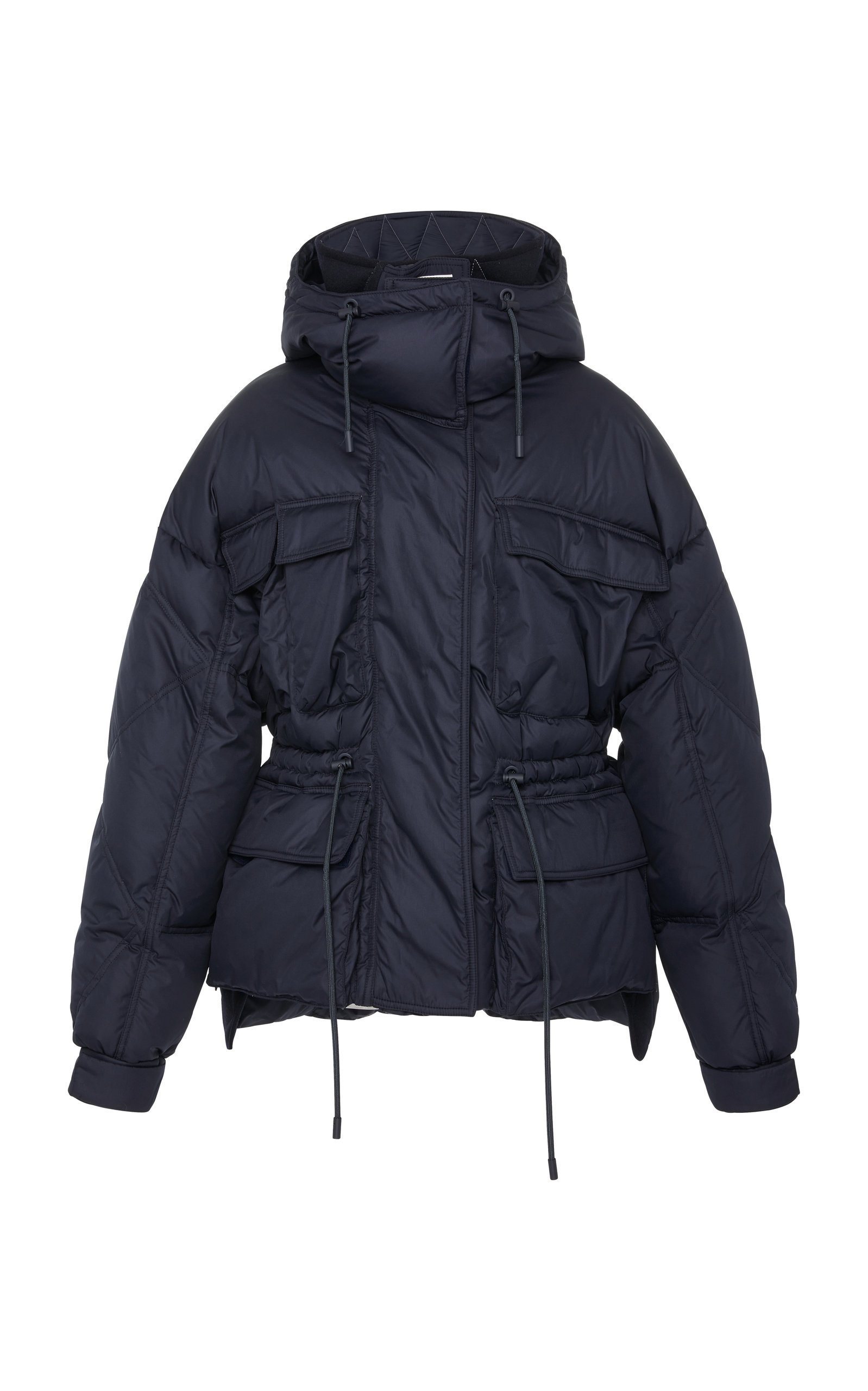 Hooded Navy Sportmax Ottavia Shell Quilted In Jacket Puffer ZBpUSB