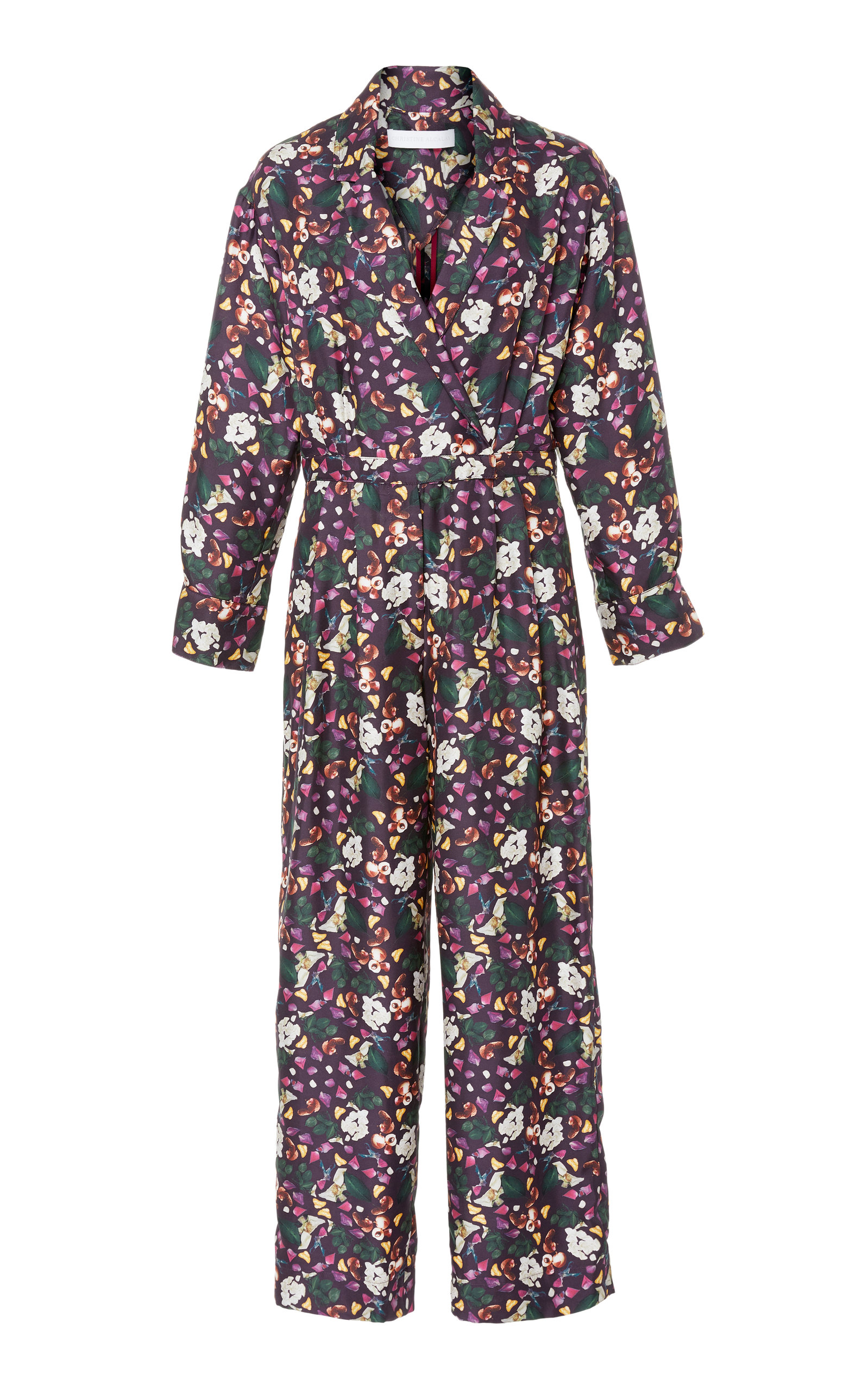 CHRISTINE ALCALAY Printed Silk Jumpsuit