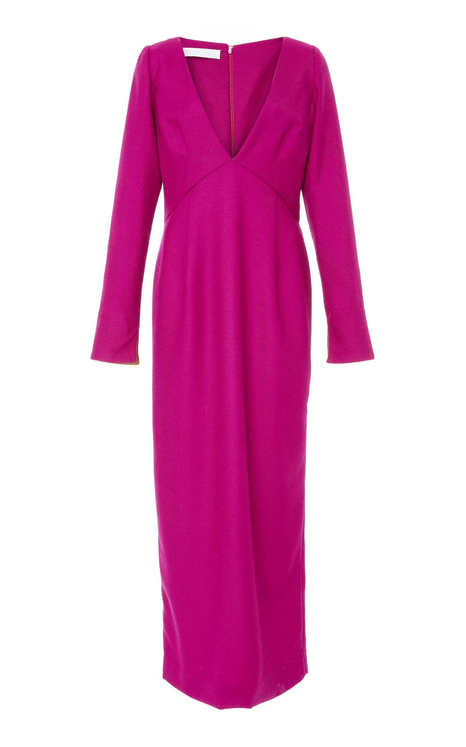 CHRISTINE ALCALAY Orchid V-Neck Dress in Pink