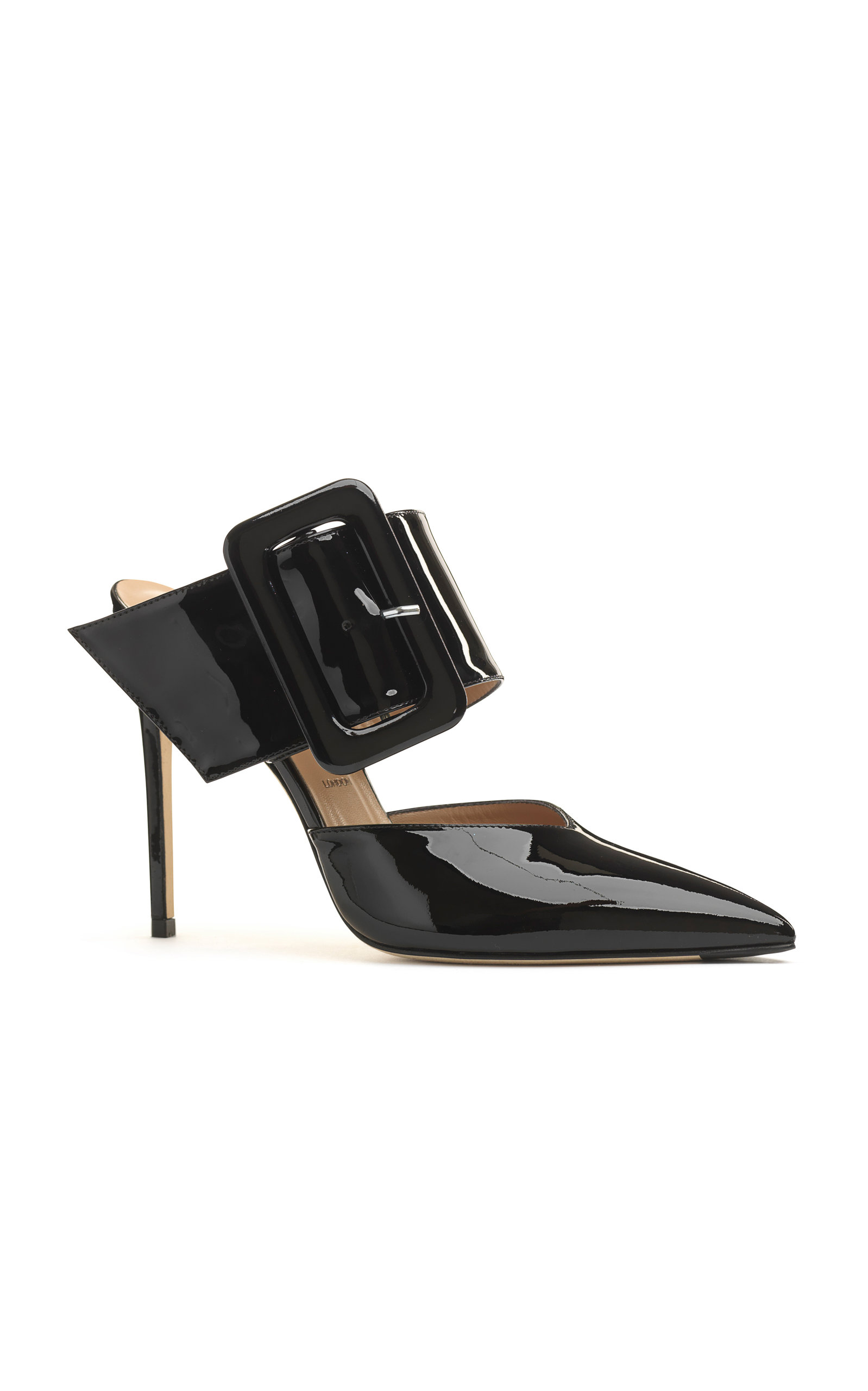 ALEXANDER WHITE Nadya Belt Mule in Black