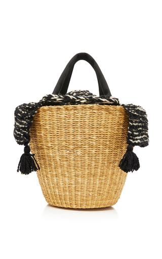 MUUN   Muun Tasseled Canvas-Trimmed Crochet-Knit And Straw Tote   Goxip