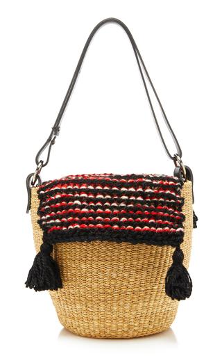 MUUN | Muun Benedicte Leather-Trimmed Tasseled Crochet-Knit And Straw Tote | Goxip