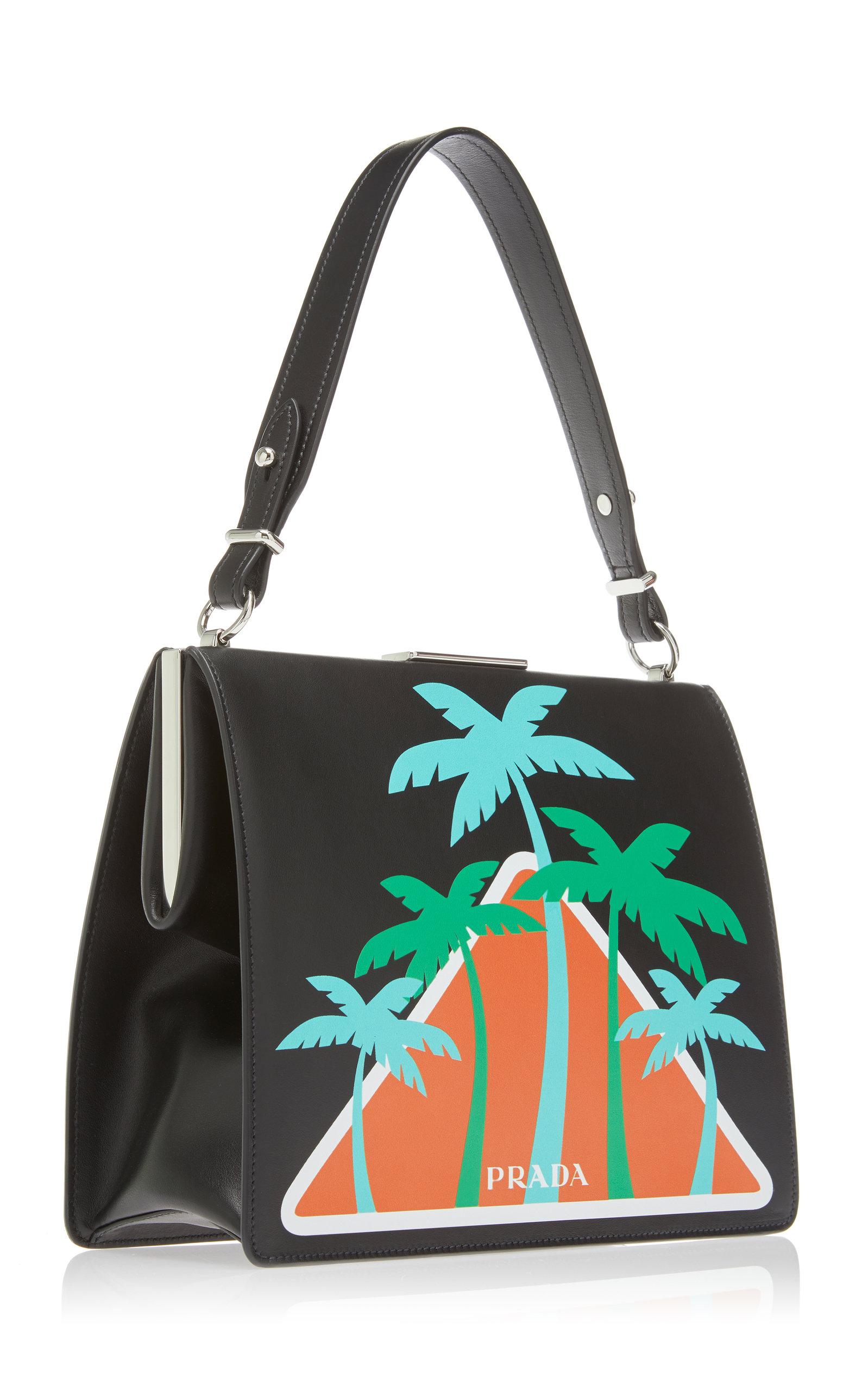 8130114c9d06 City Calf Top Handle with Palm Trees by Prada | Moda Operandi