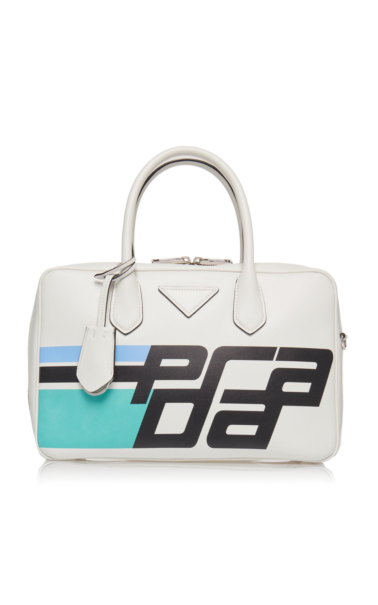 b80c9e97873a ... norway city calf duffle bag with logo by prada moda operandi 35619 0bd6b