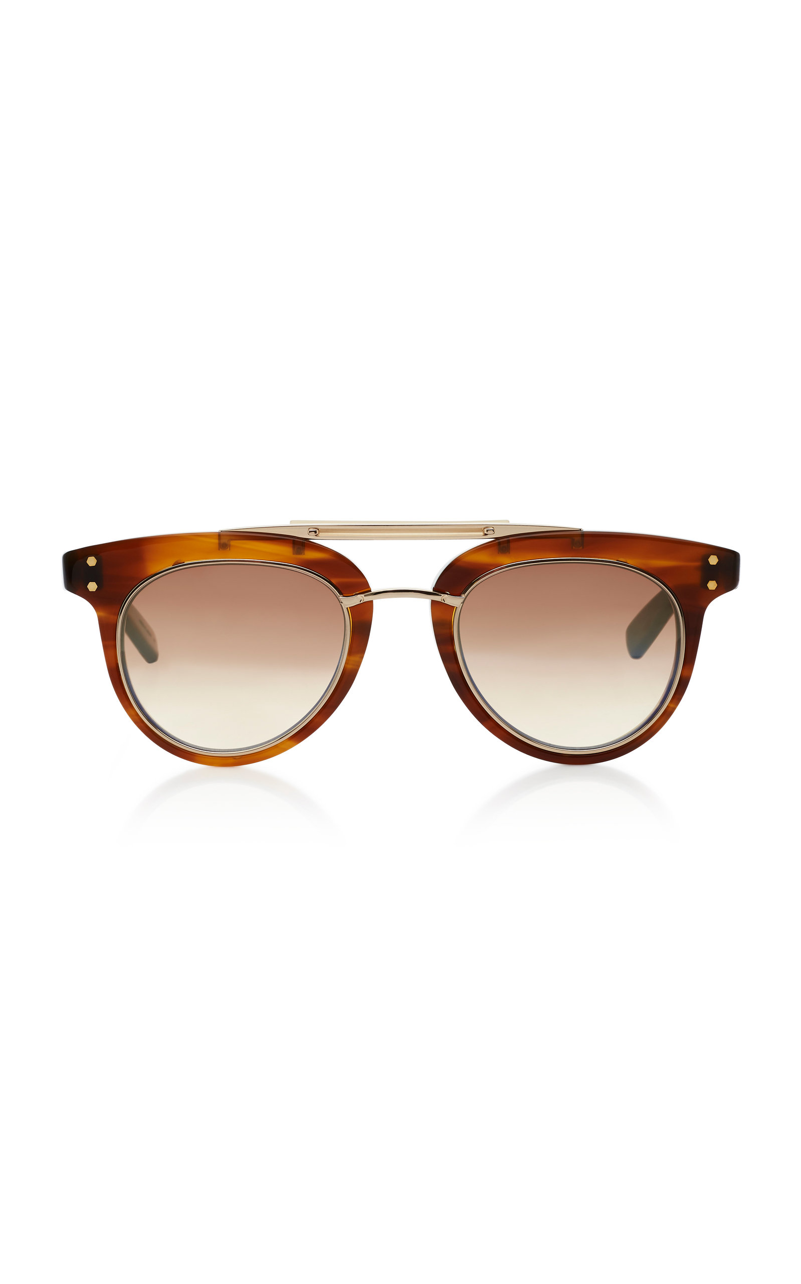 MR. LEIGHT Laurel Sl Acetate And Metal Sunglasses in Brown