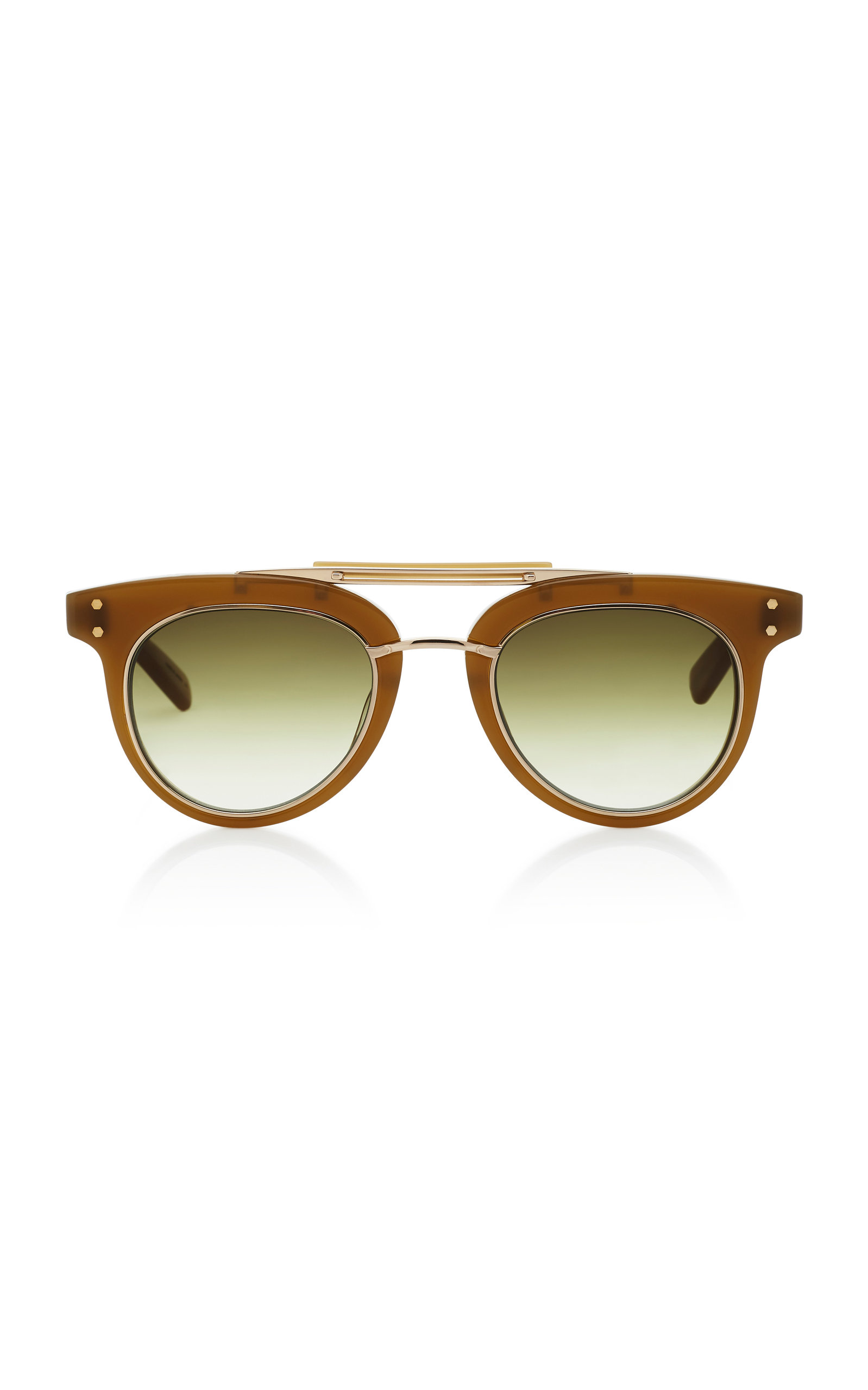 MR. LEIGHT Laurel Sl Aviator-Style Acetate And Metal Sunglasses in Green