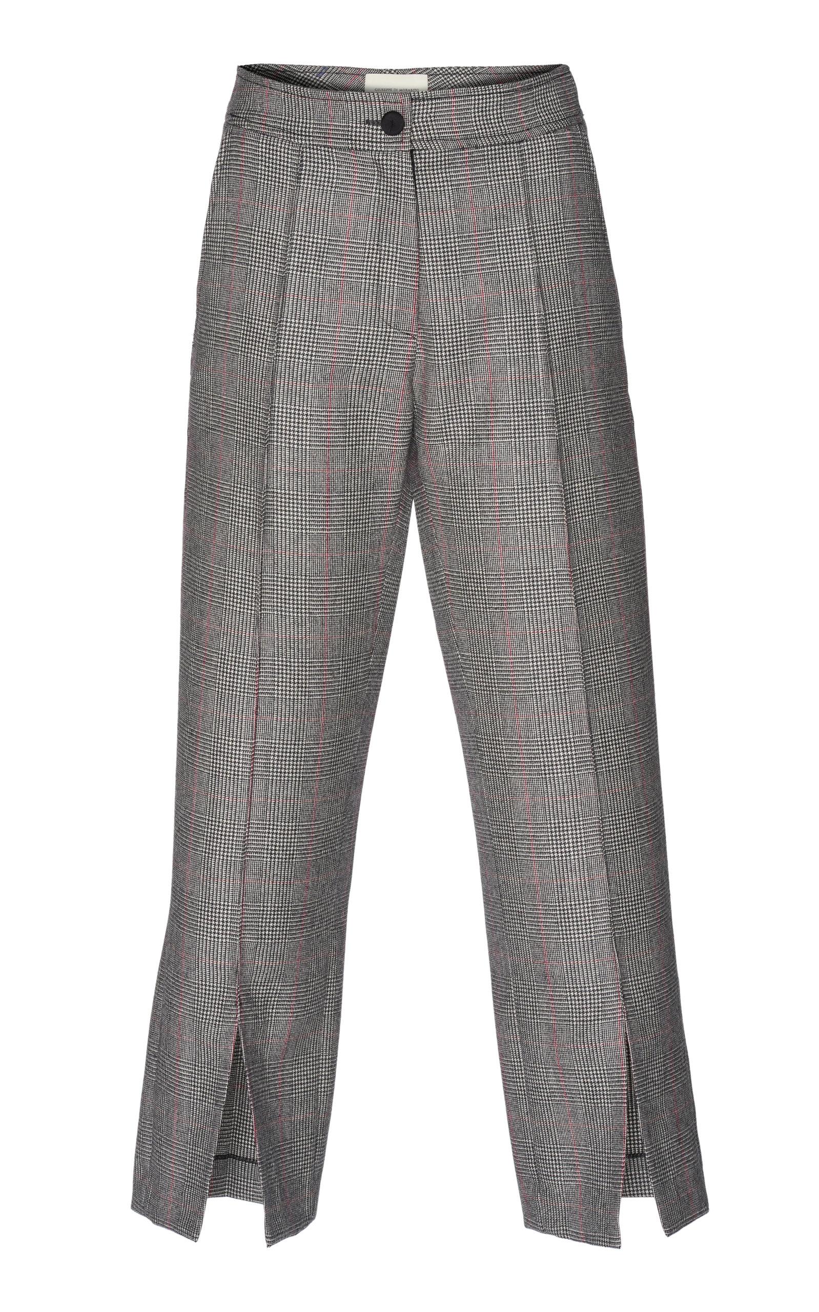 GIUSEPPE DI MORABITO Check Design Trouser in Grey